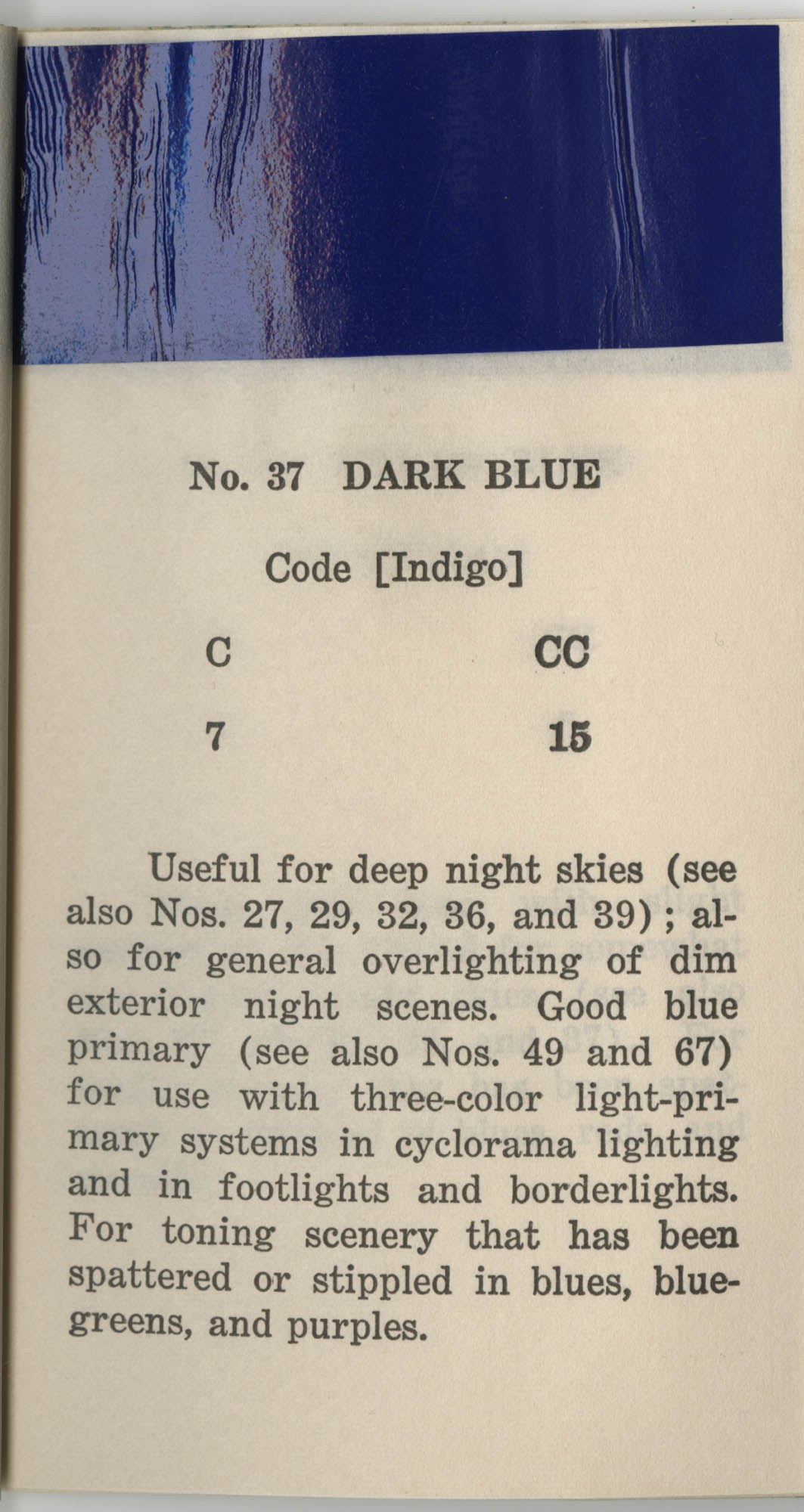 Colored Gelatine for the Theatre School and Community Playhouse, Page 16