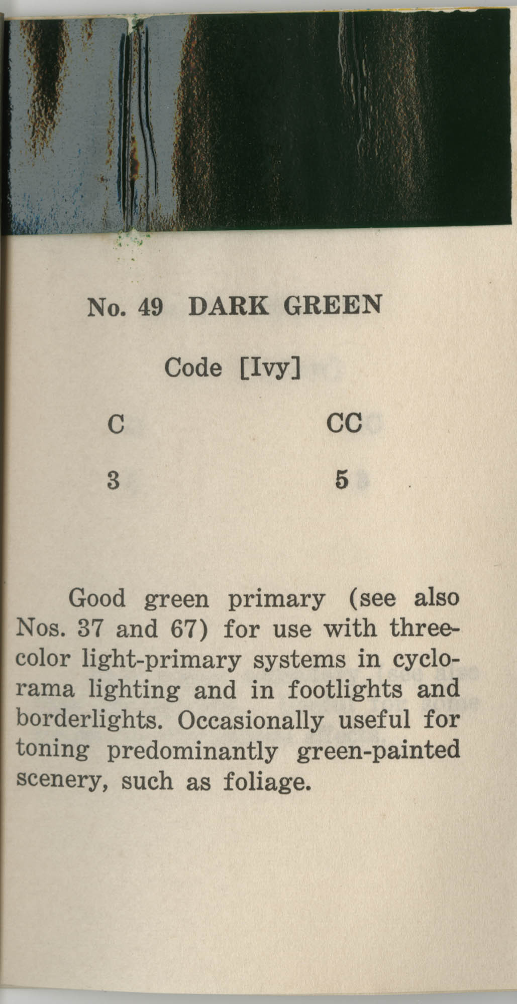 Colored Gelatine for the Theatre School and Community Playhouse, Page 20