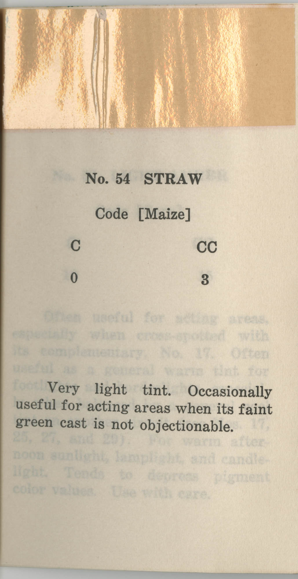 Colored Gelatine for the Theatre School and Community Playhouse, Page 22