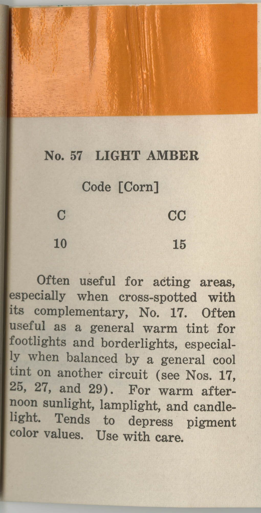 Colored Gelatine for the Theatre School and Community Playhouse, Page 23