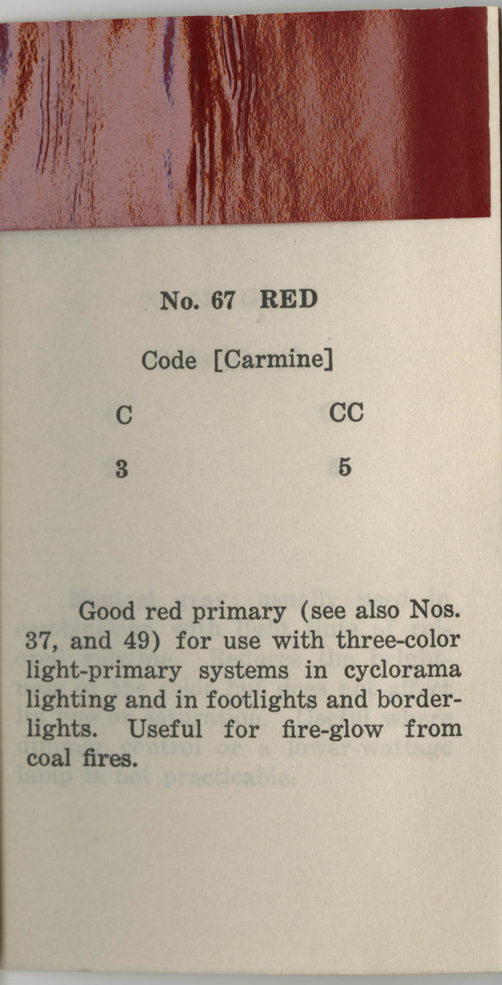 Colored Gelatine for the Theatre School and Community Playhouse, Page 27