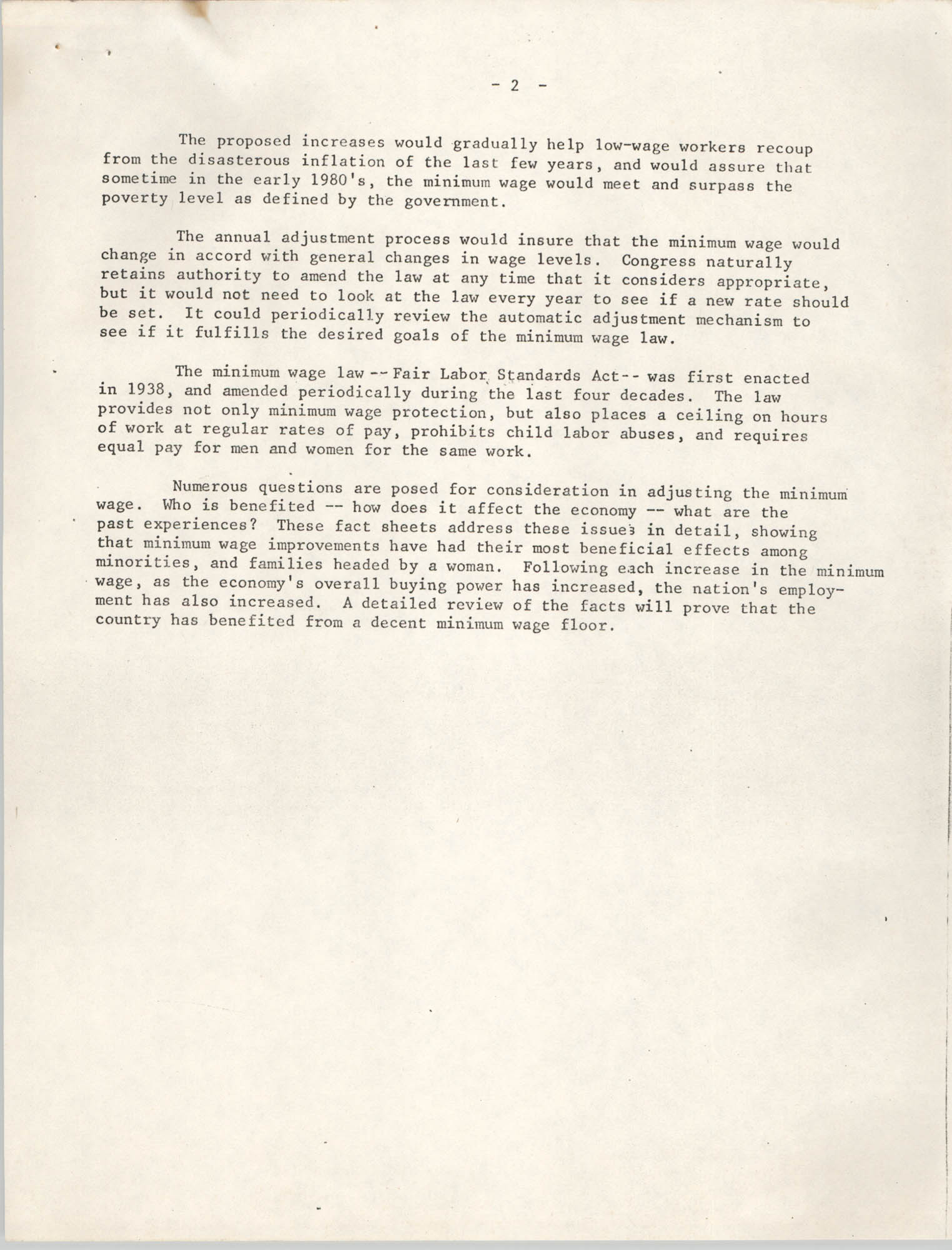 1977 Amendments to the Fair Labor Standards Act, Page 2