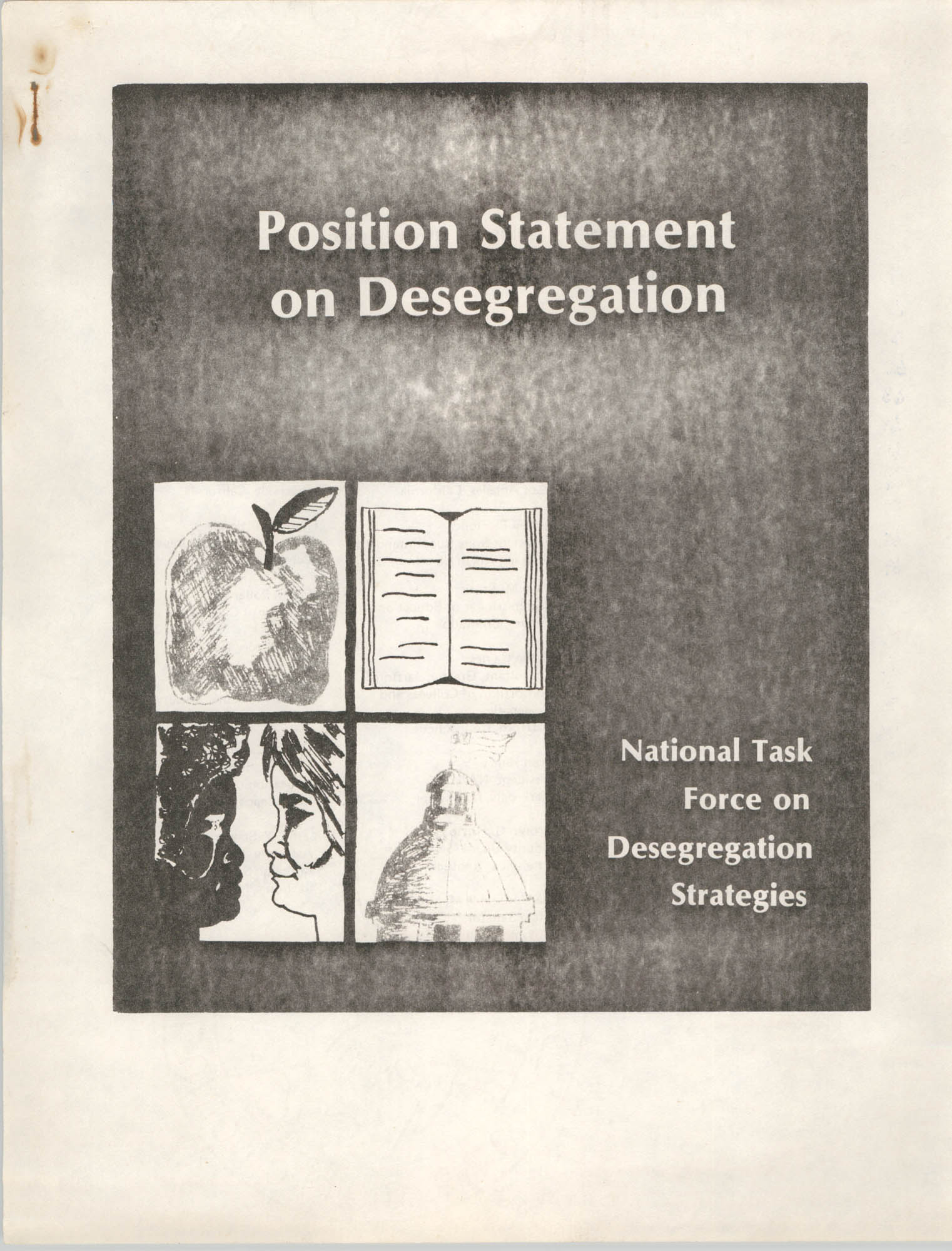 Position Statement on Desegregation, National Task Force on Desegregation Strategies, Front Cover