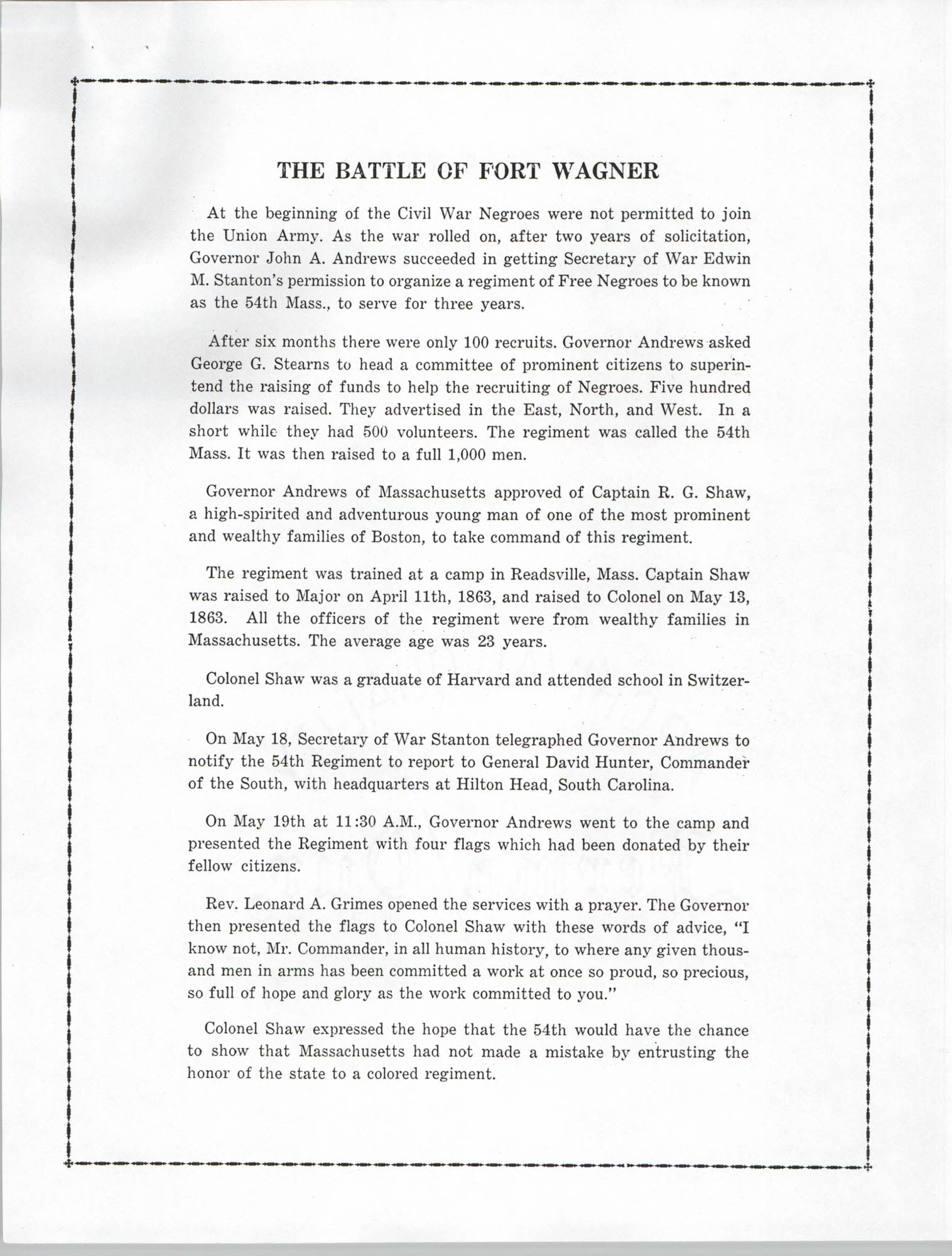 Ninety-Ninth Anniversary of the Battle of Fort Wagner Program, Page 4