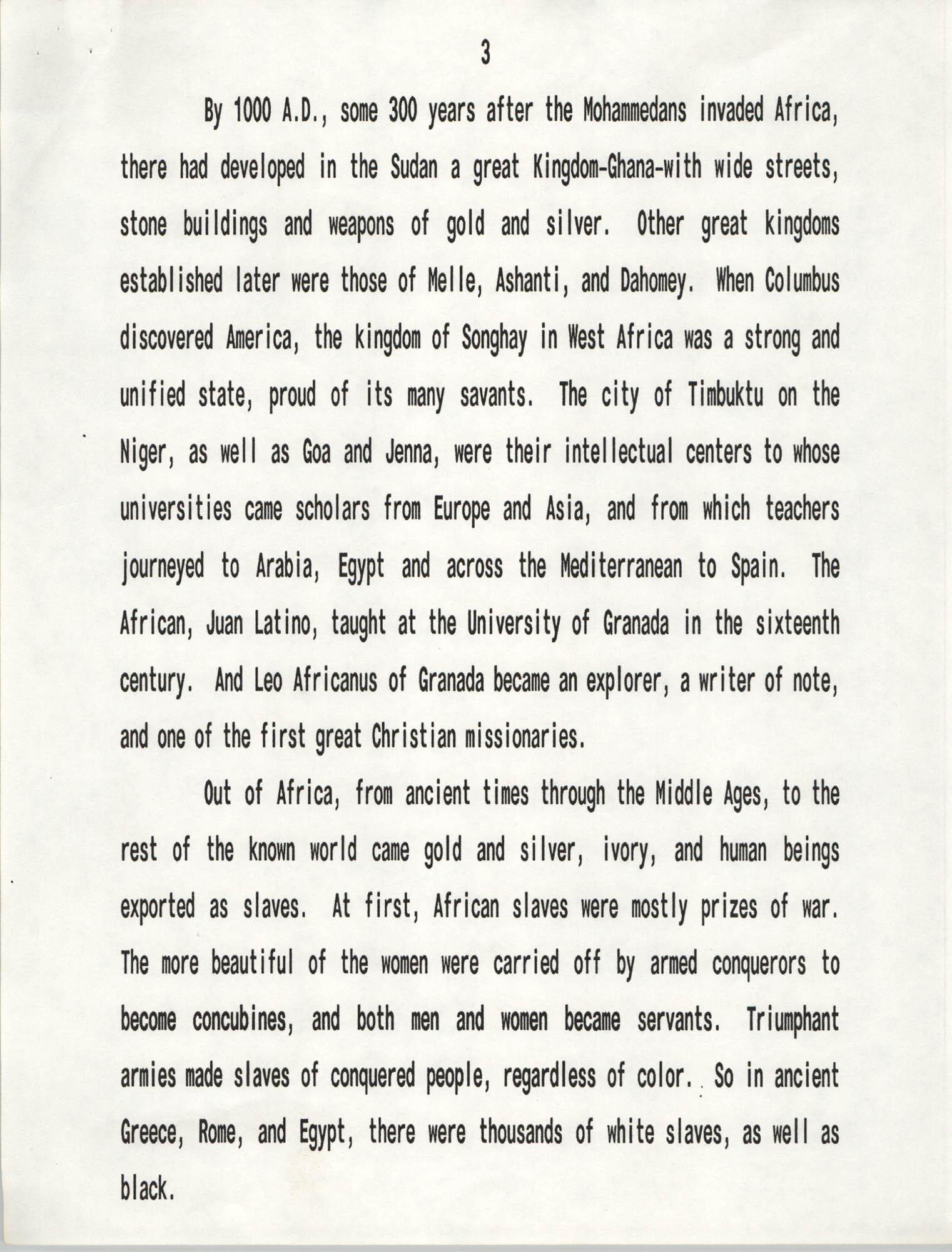 Senator Herbert U. Fielding, Black History Observance, February 28, 1988, Page 3