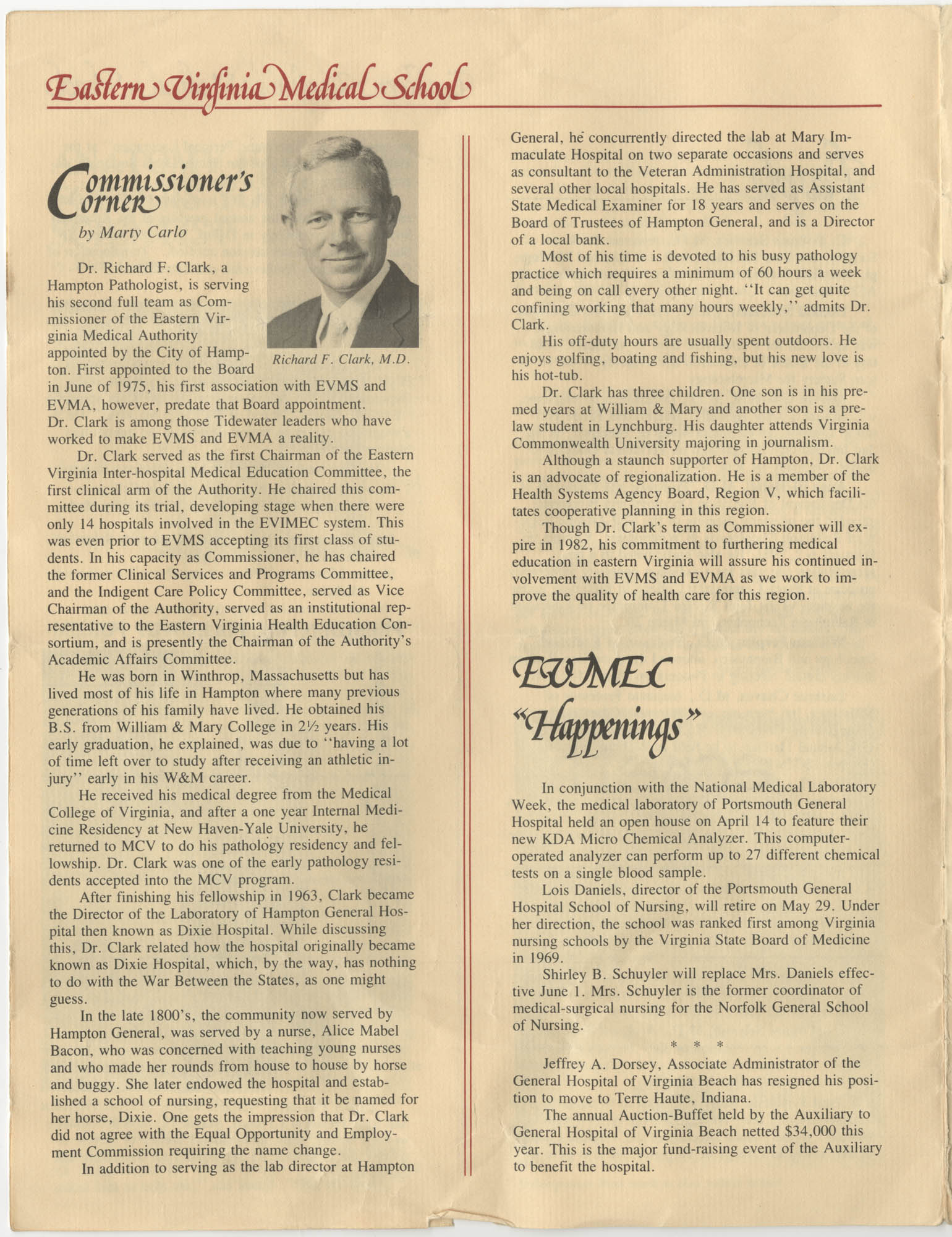 Eastern Virginia Medical School, Dean's Newsletter, Volume 4, Number 5, Page 4