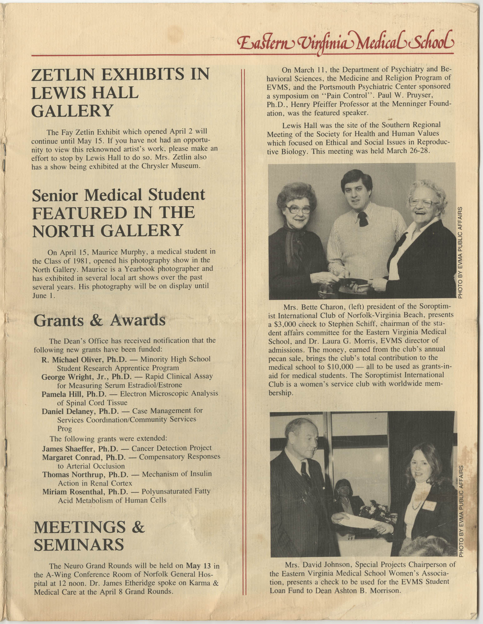 Eastern Virginia Medical School, Dean's Newsletter, Volume 4, Number 5, Page 7