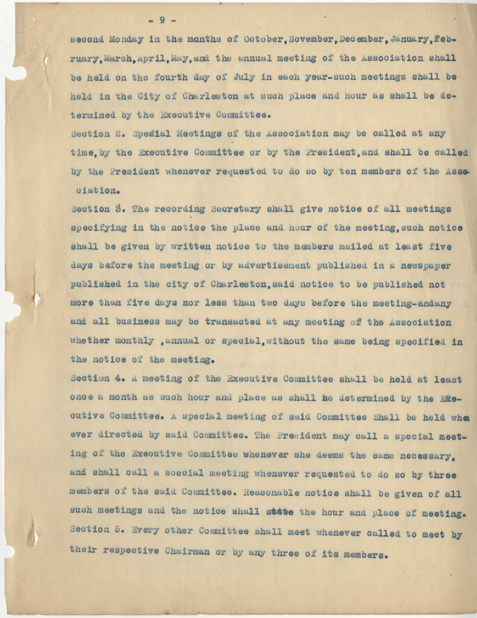 Minutes to the Coming Street Y.W.C.A. Meeting, January 23, 1911, Page 9