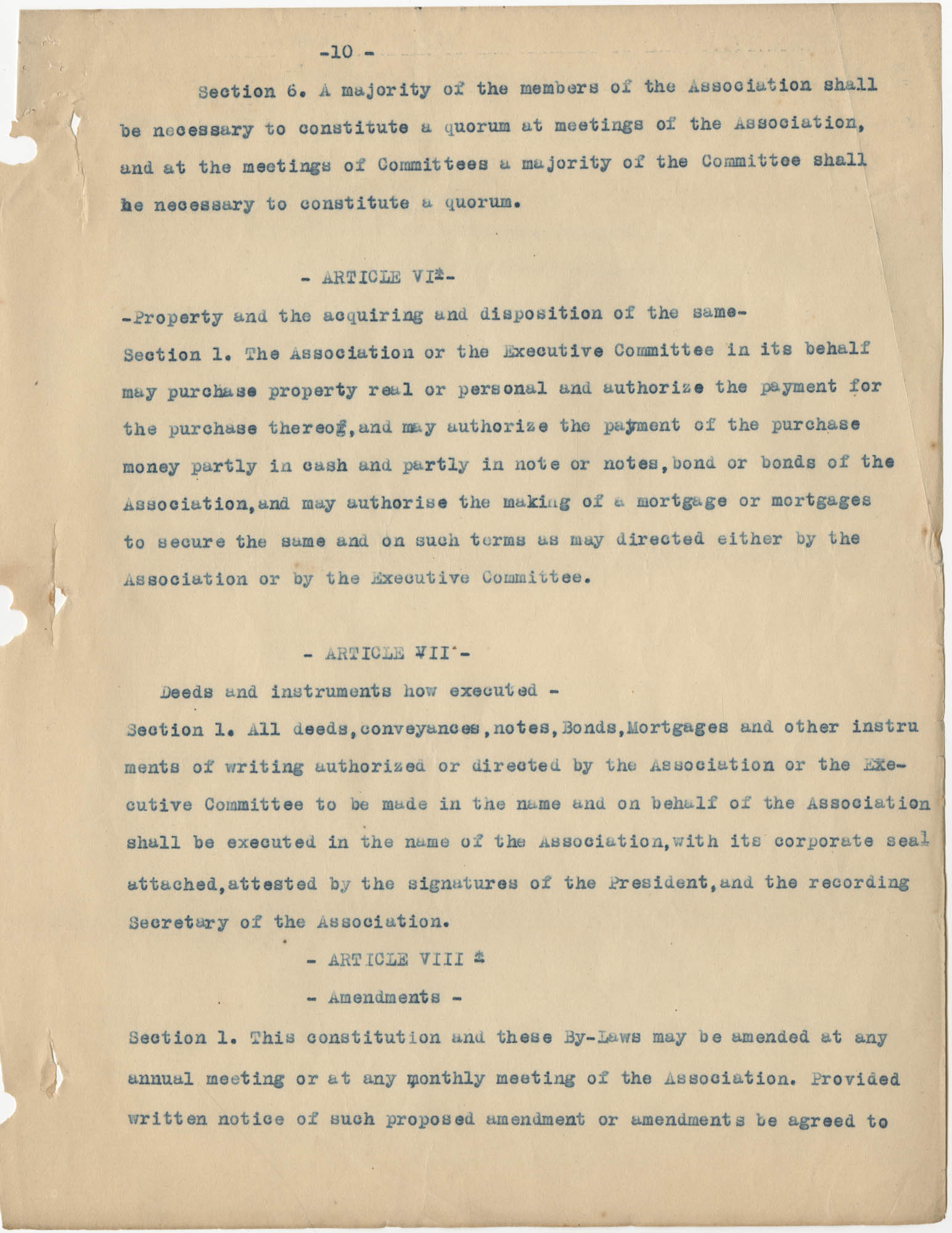 Minutes to the Coming Street Y.W.C.A. Meeting, January 23, 1911, Page 10