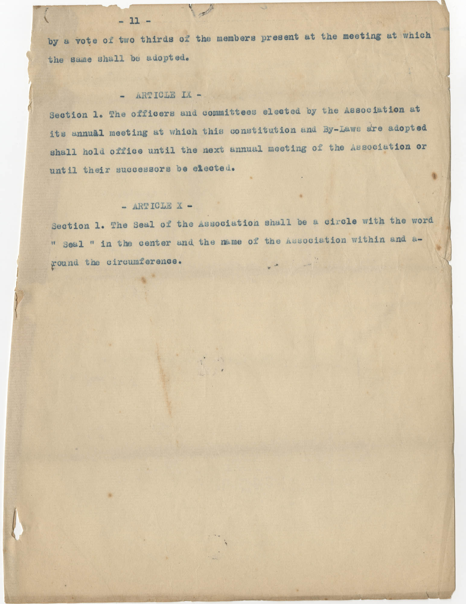 Minutes to the Coming Street Y.W.C.A. Meeting, January 23, 1911, Page 11
