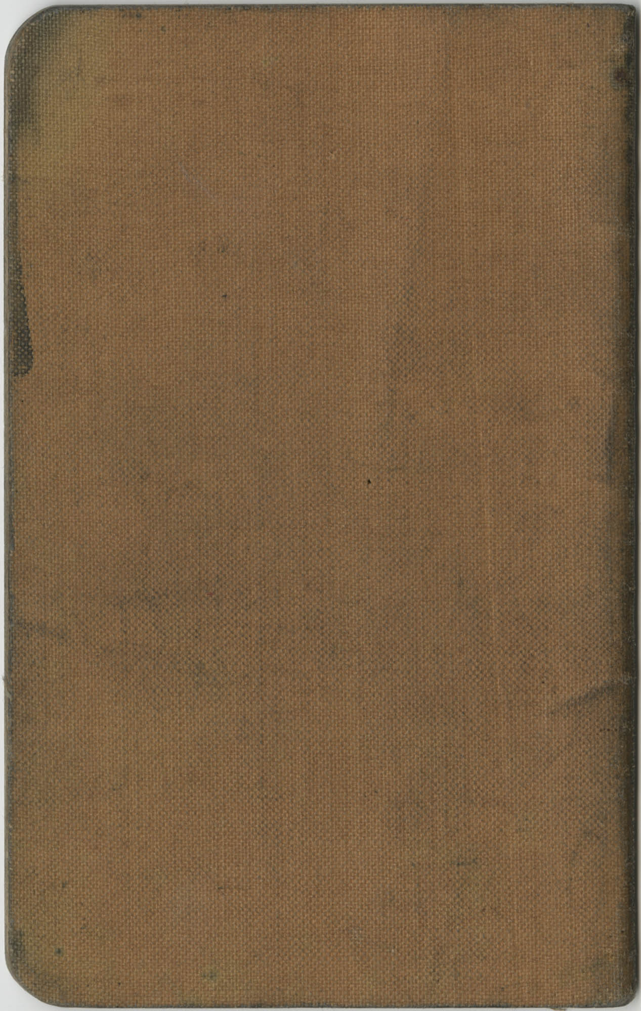 Carolina Savings Bank Account Book for the Y.W.C.A., Coming Street Branch, Back Cover