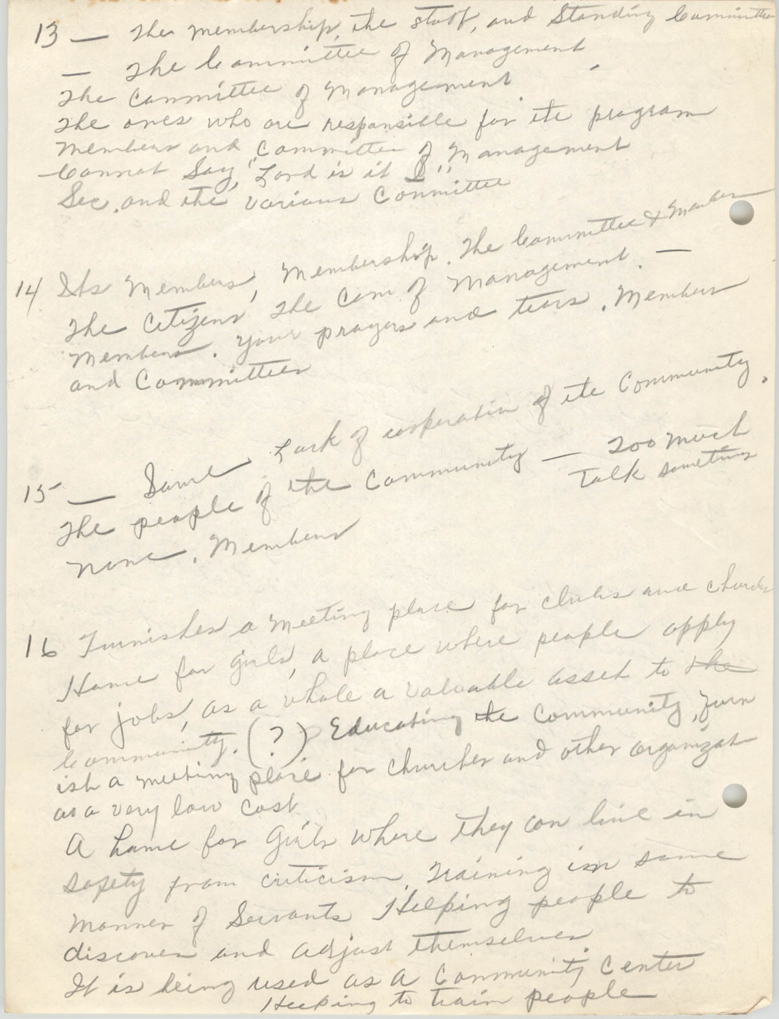 Coming Street Y.W.C.A., Completed Questionnaire Number 12, Page 6
