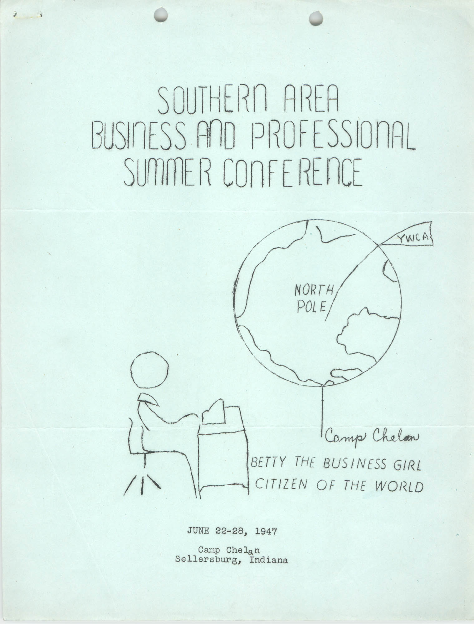 Southern Area Business and Professional Summer Conference, June 1947, Page 1