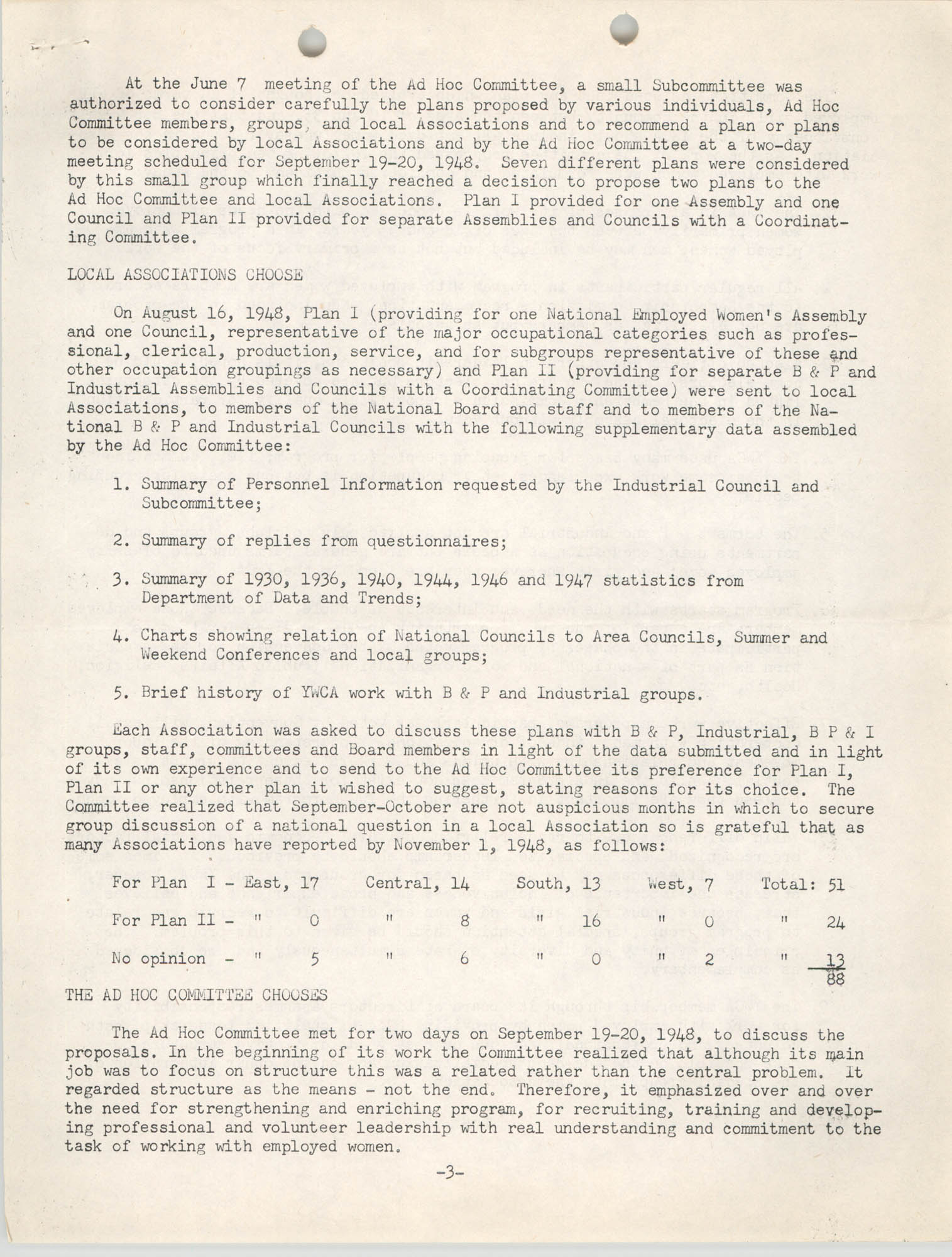 Division of Community Y.W.C.A.'s Committee Report, Page 3
