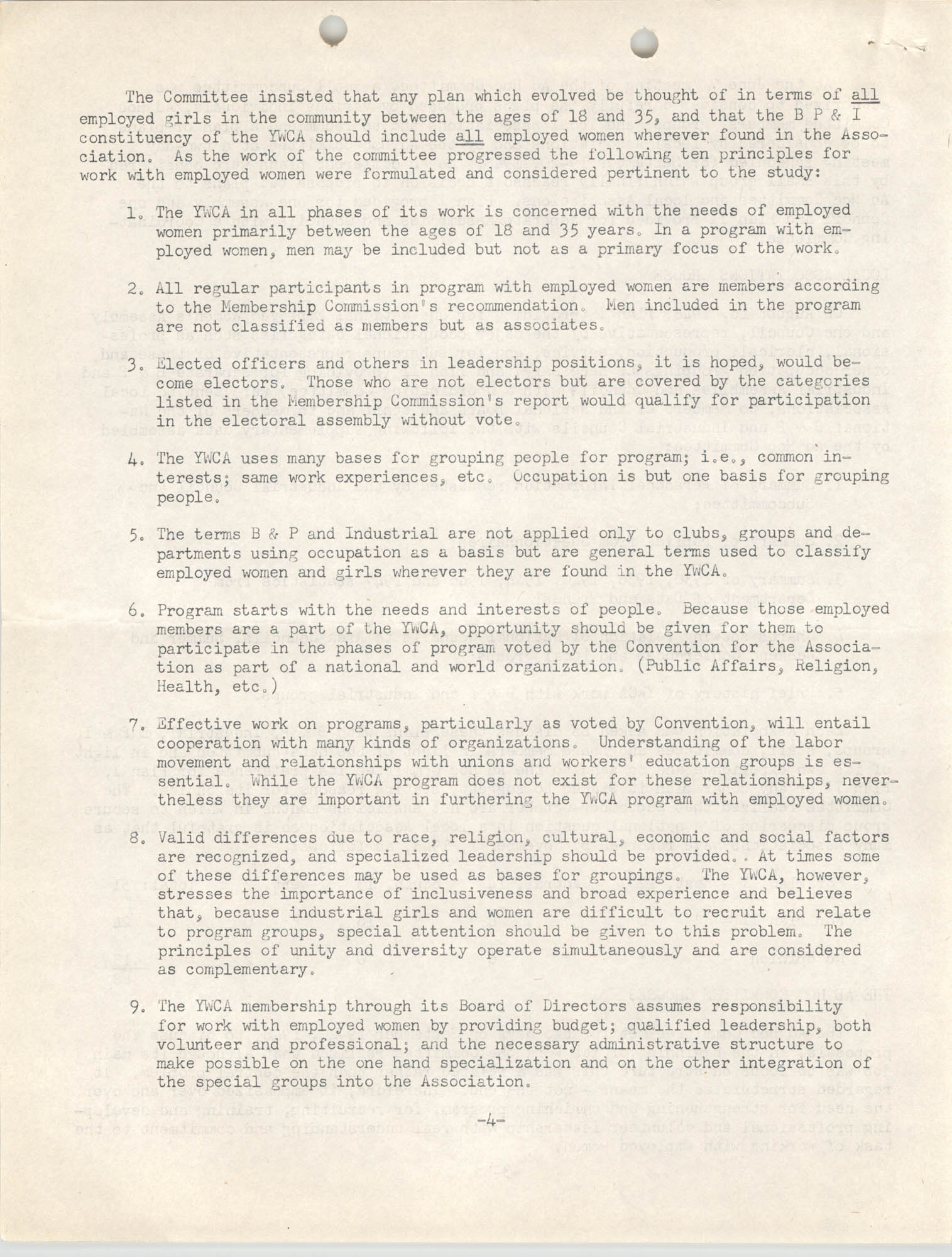 Division of Community Y.W.C.A.'s Committee Report, Page 4