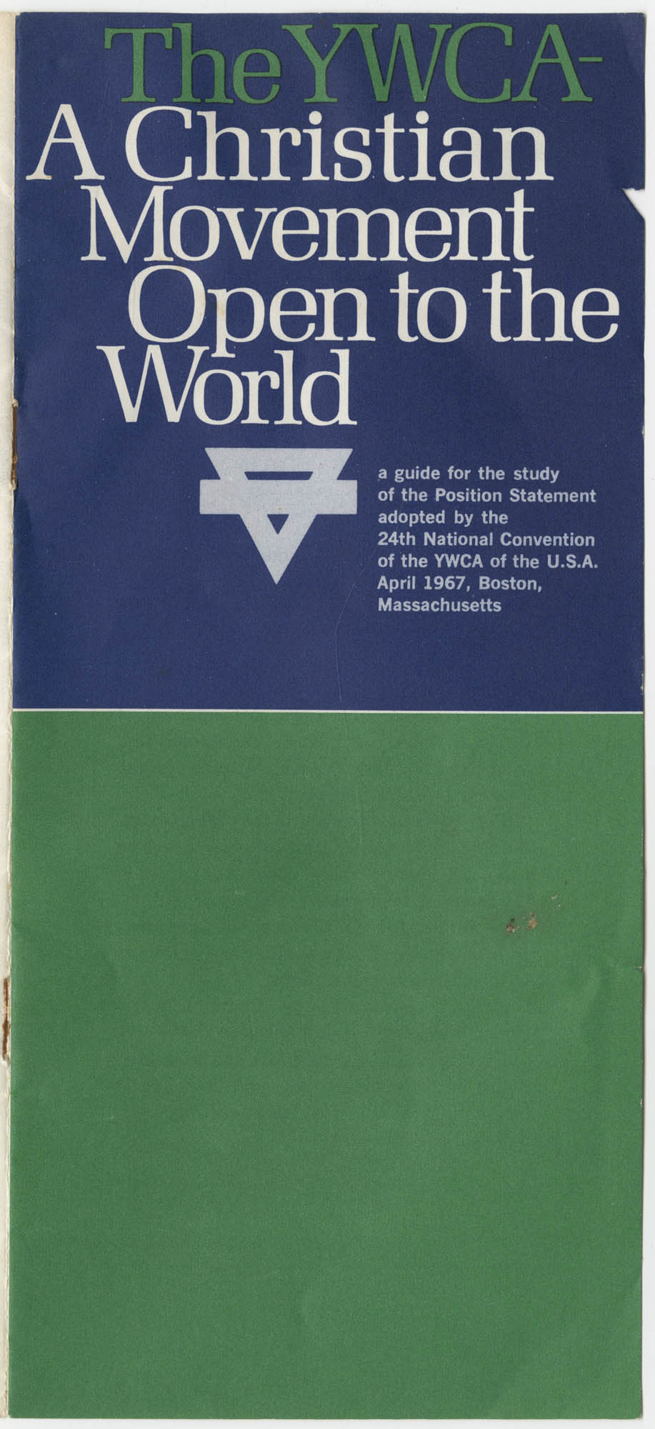 The Y.W.C.A.: A Christian Movement Open to the World, Cover