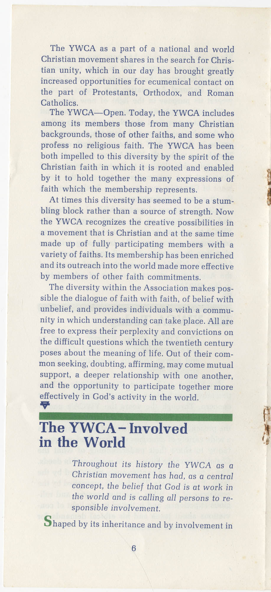 The Y.W.C.A.: A Christian Movement Open to the World, Page 6