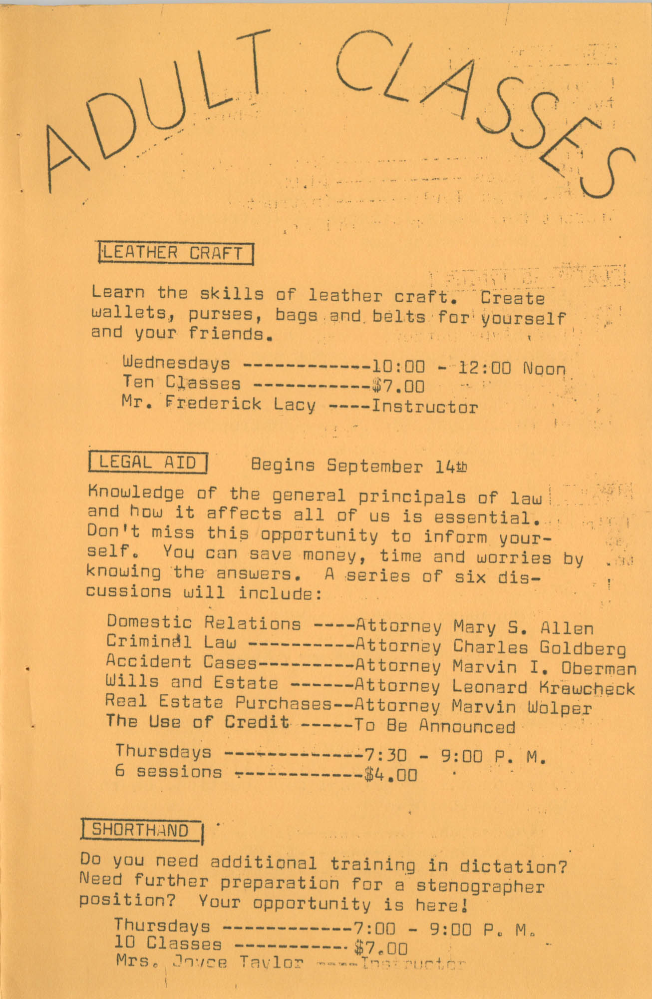Coming Street Y.W.C.A. Fall Program, 1967, Page 2