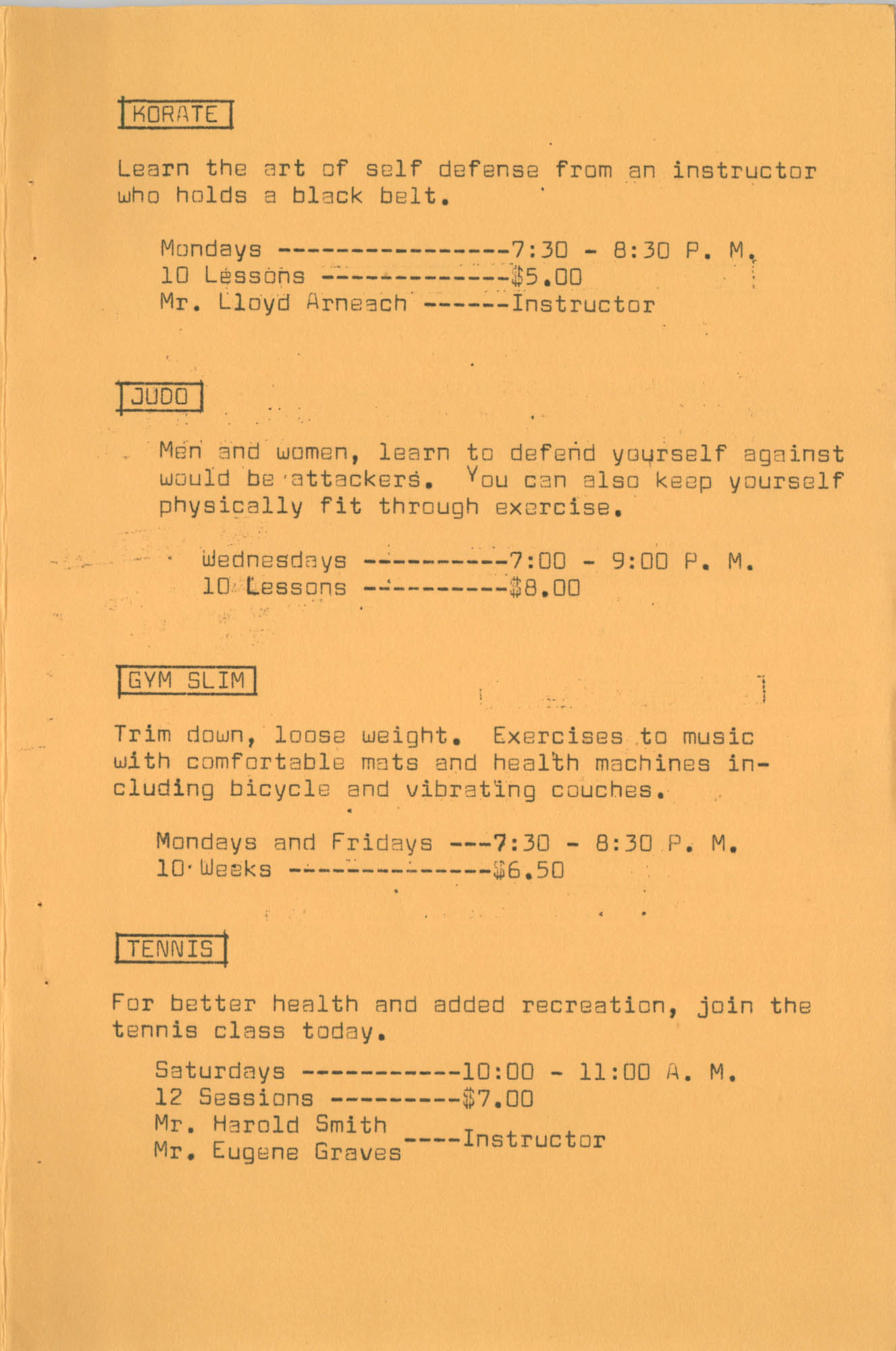 Coming Street Y.W.C.A. Fall Program, 1967, Page 4