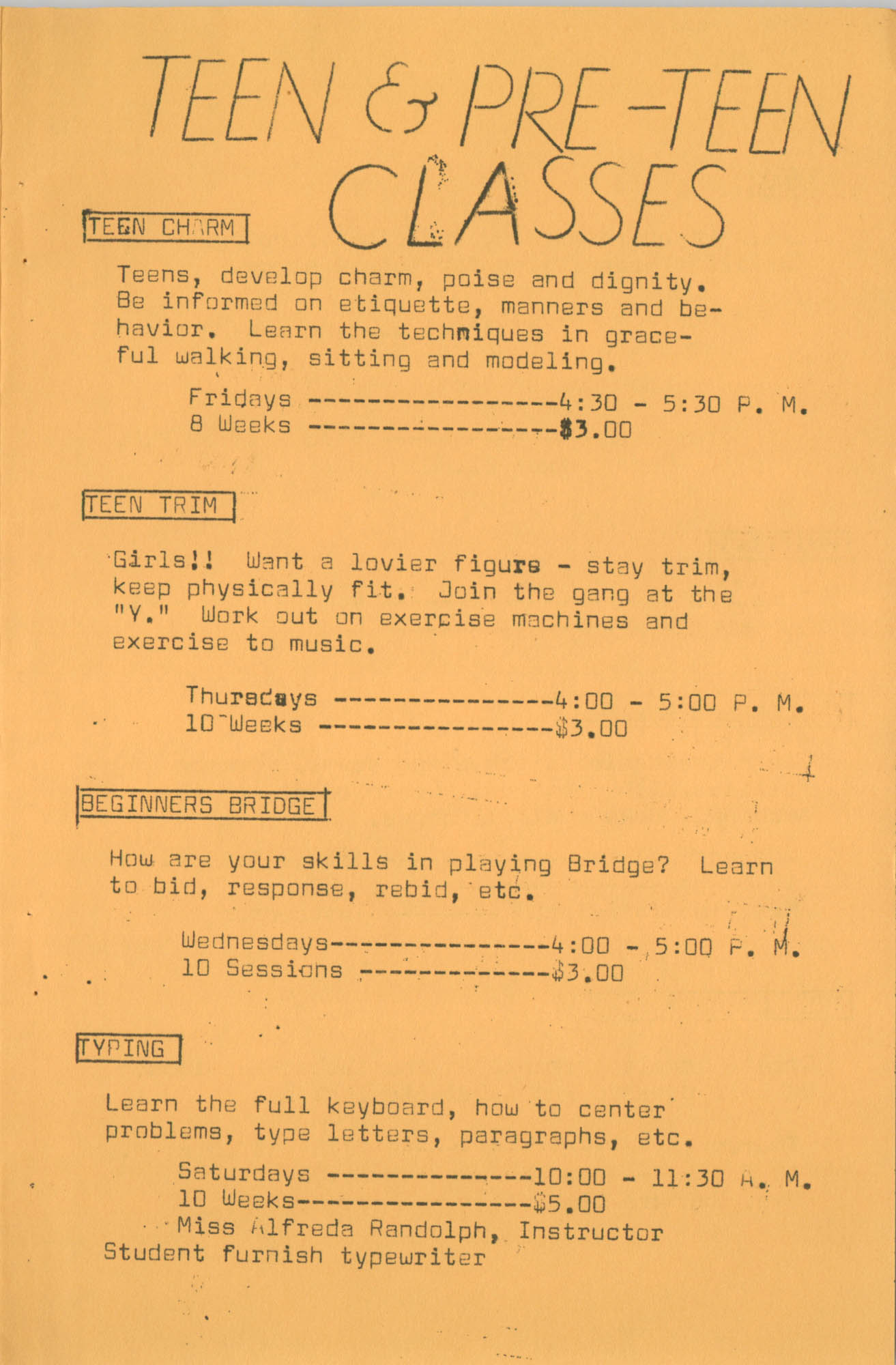 Coming Street Y.W.C.A. Fall Program, 1967, Page 6