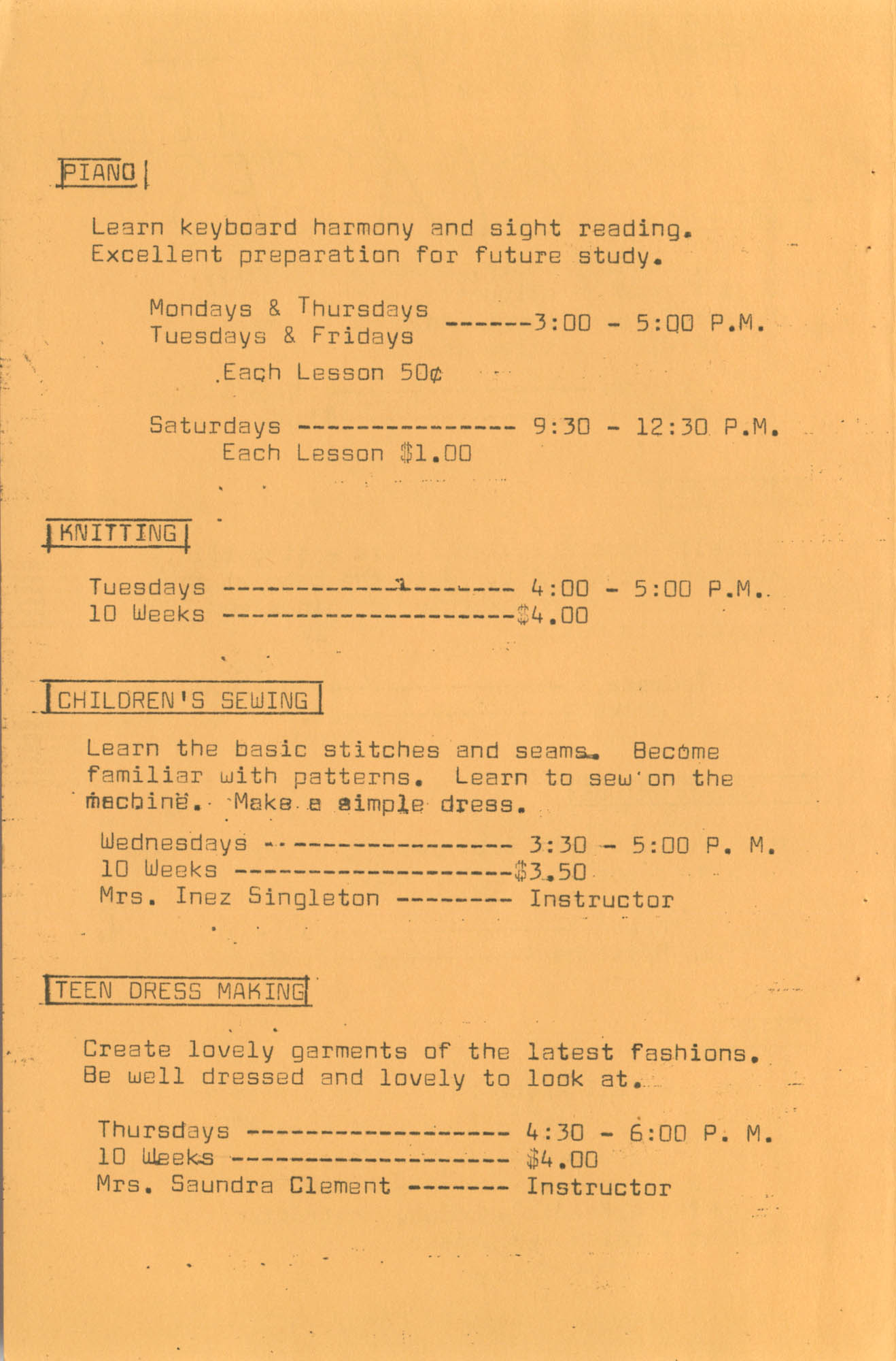 Coming Street Y.W.C.A. Fall Program, 1967, Page 7