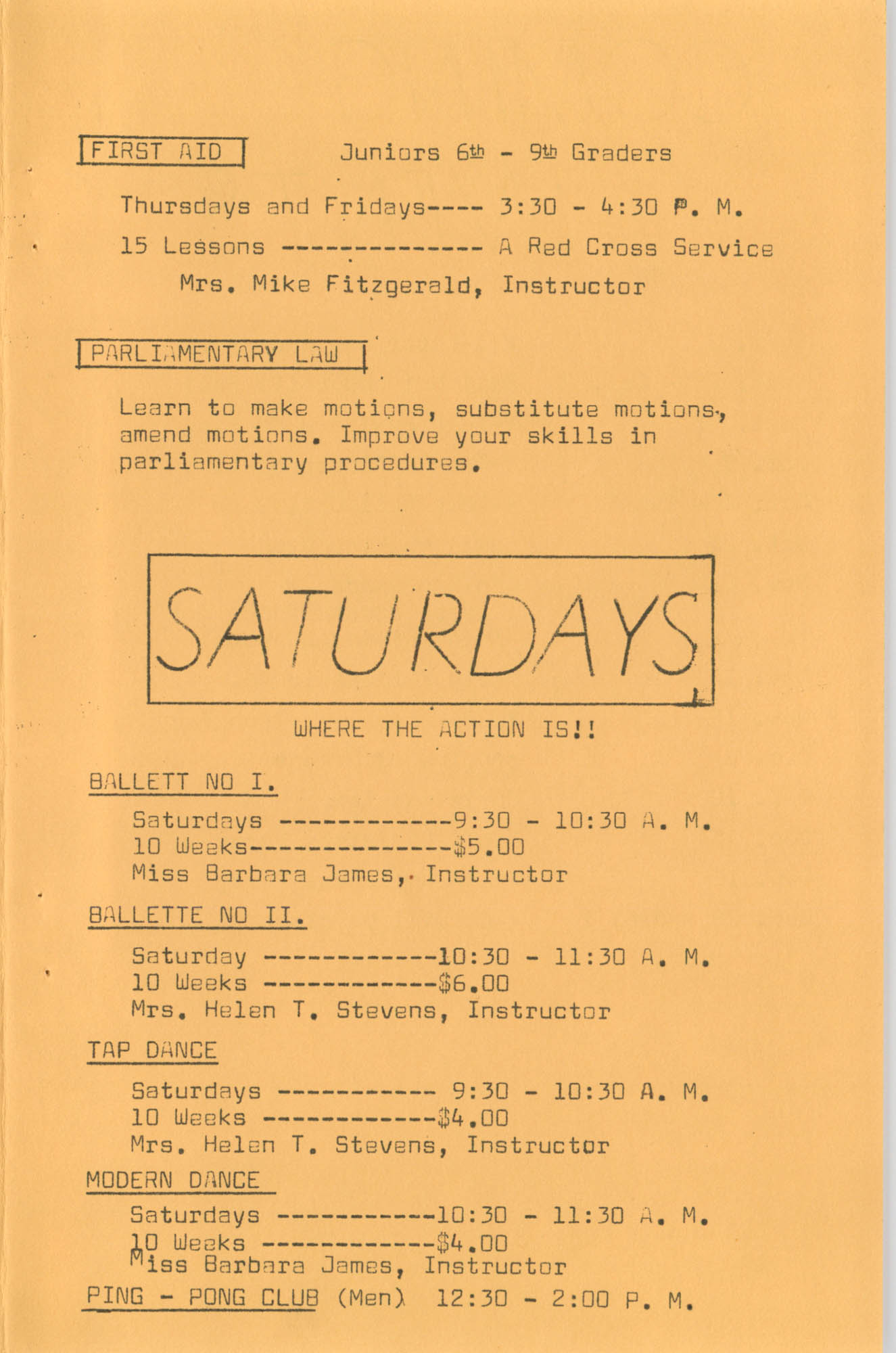 Coming Street Y.W.C.A. Fall Program, 1967, Page 10