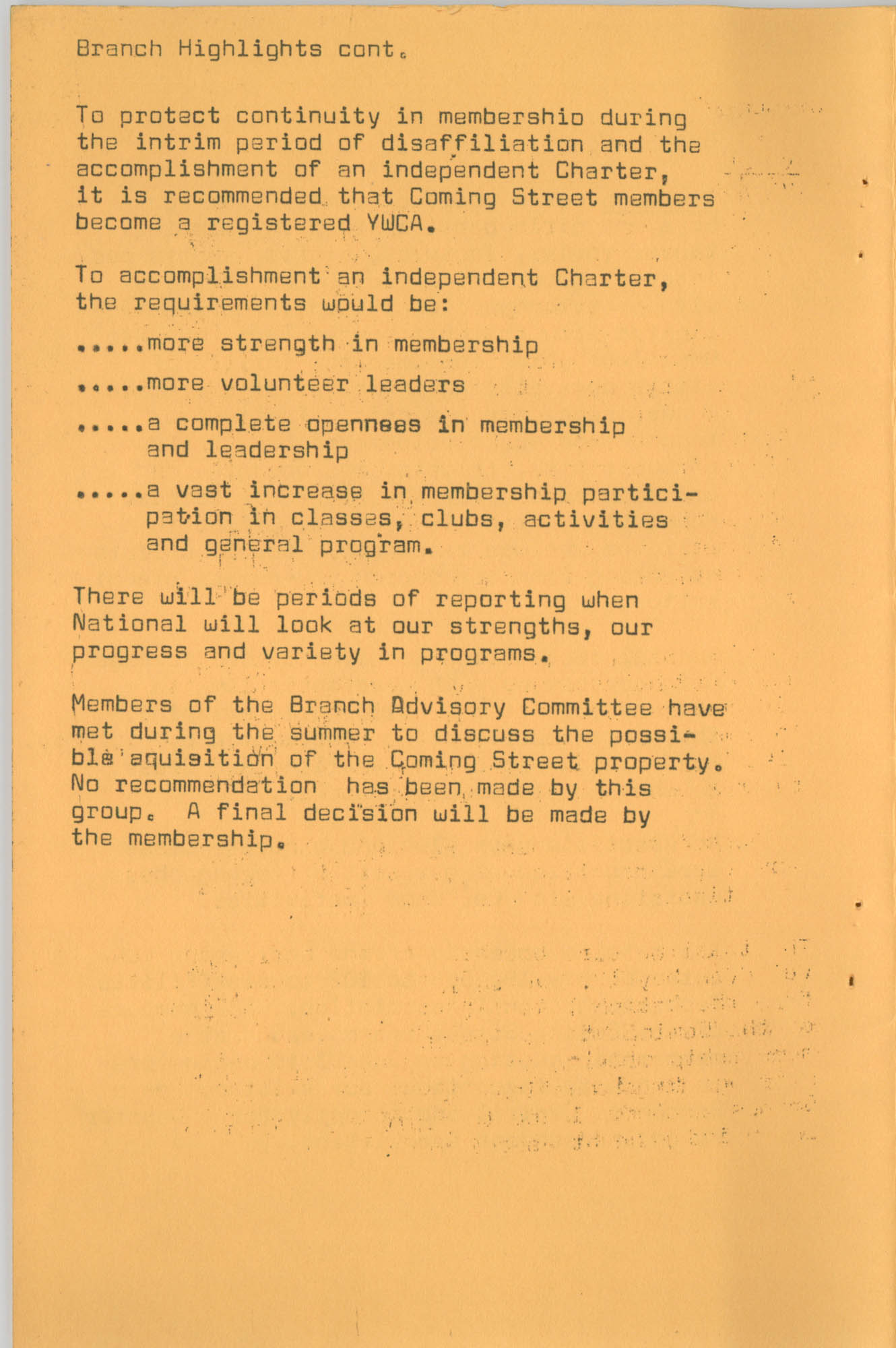 Coming Street Y.W.C.A. Fall Program, 1967, Page 13