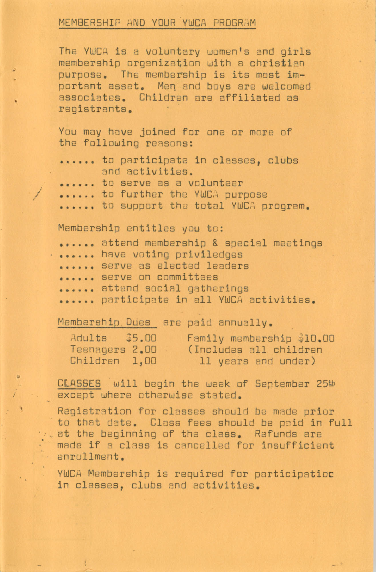 Coming Street Y.W.C.A. Fall Program, 1967, Page 14