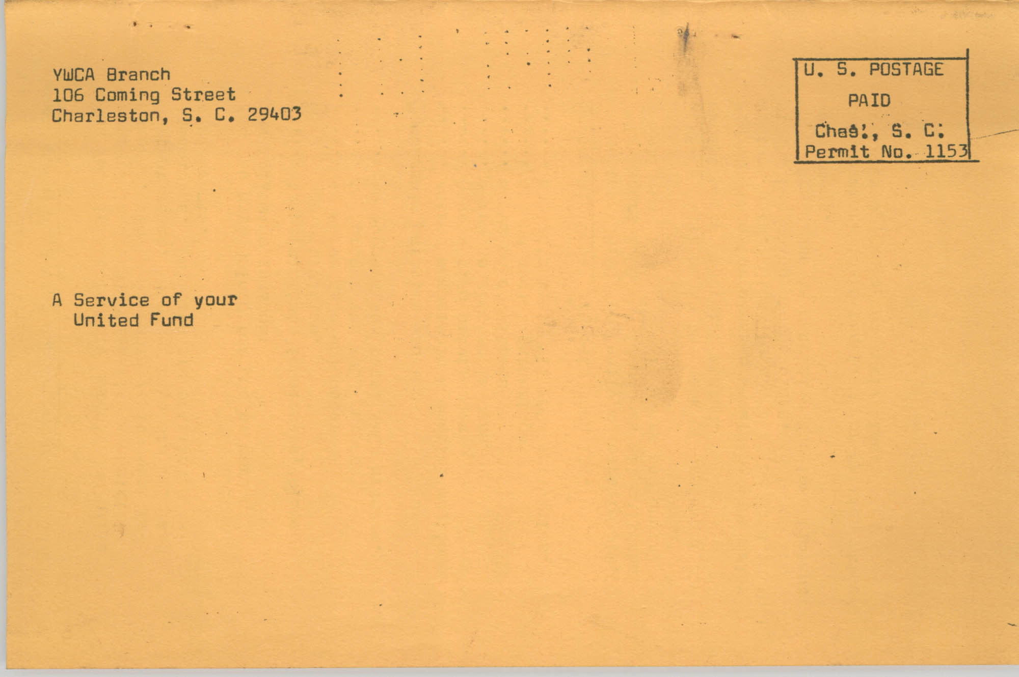Coming Street Y.W.C.A. Fall Program, 1967, Back Cover