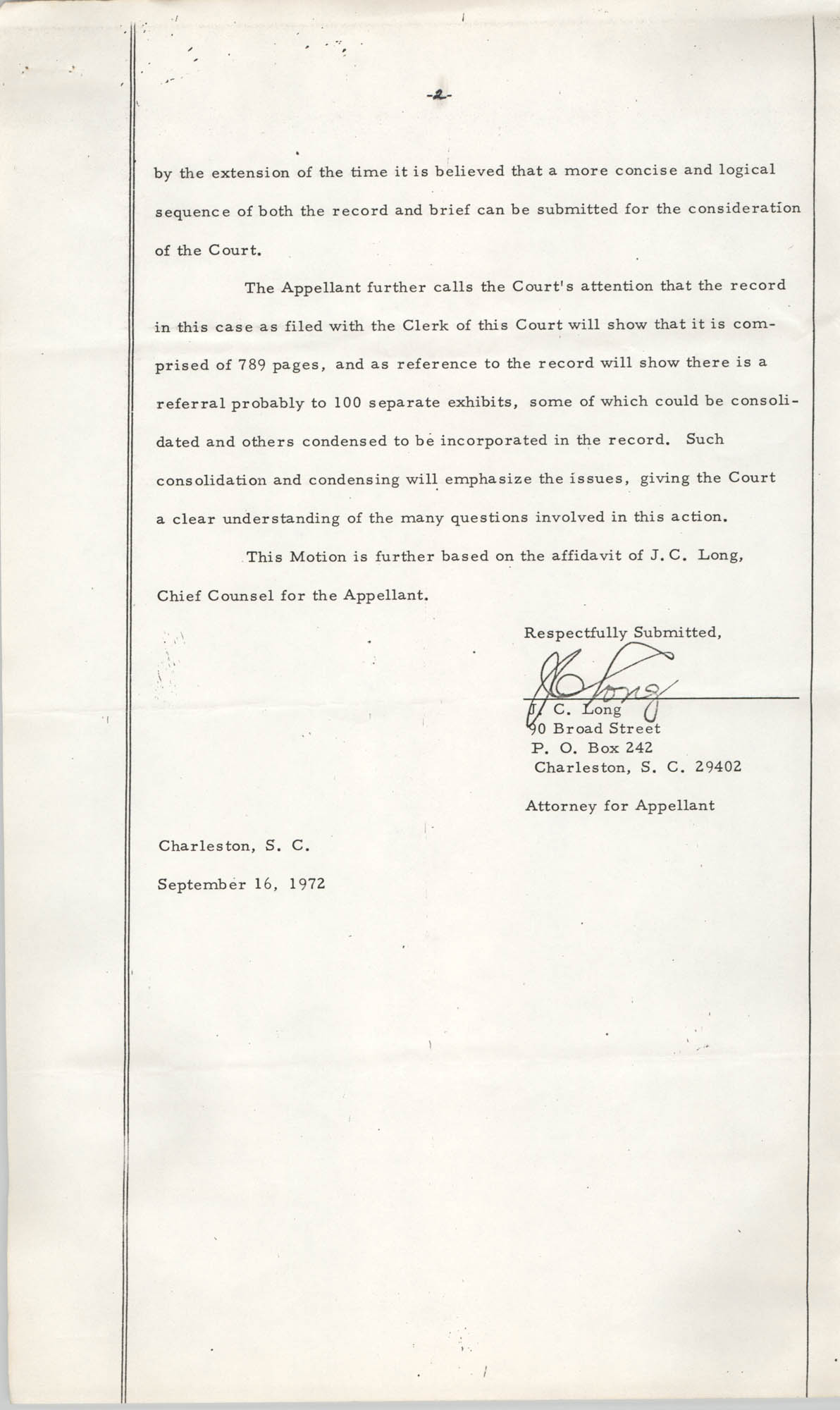 National Board of the Y.W.C.A. of the U.S.A. vs. Y.W.C.A. of Charleston South Carolina, No. 72-1062, Petition for Extension, Page 2