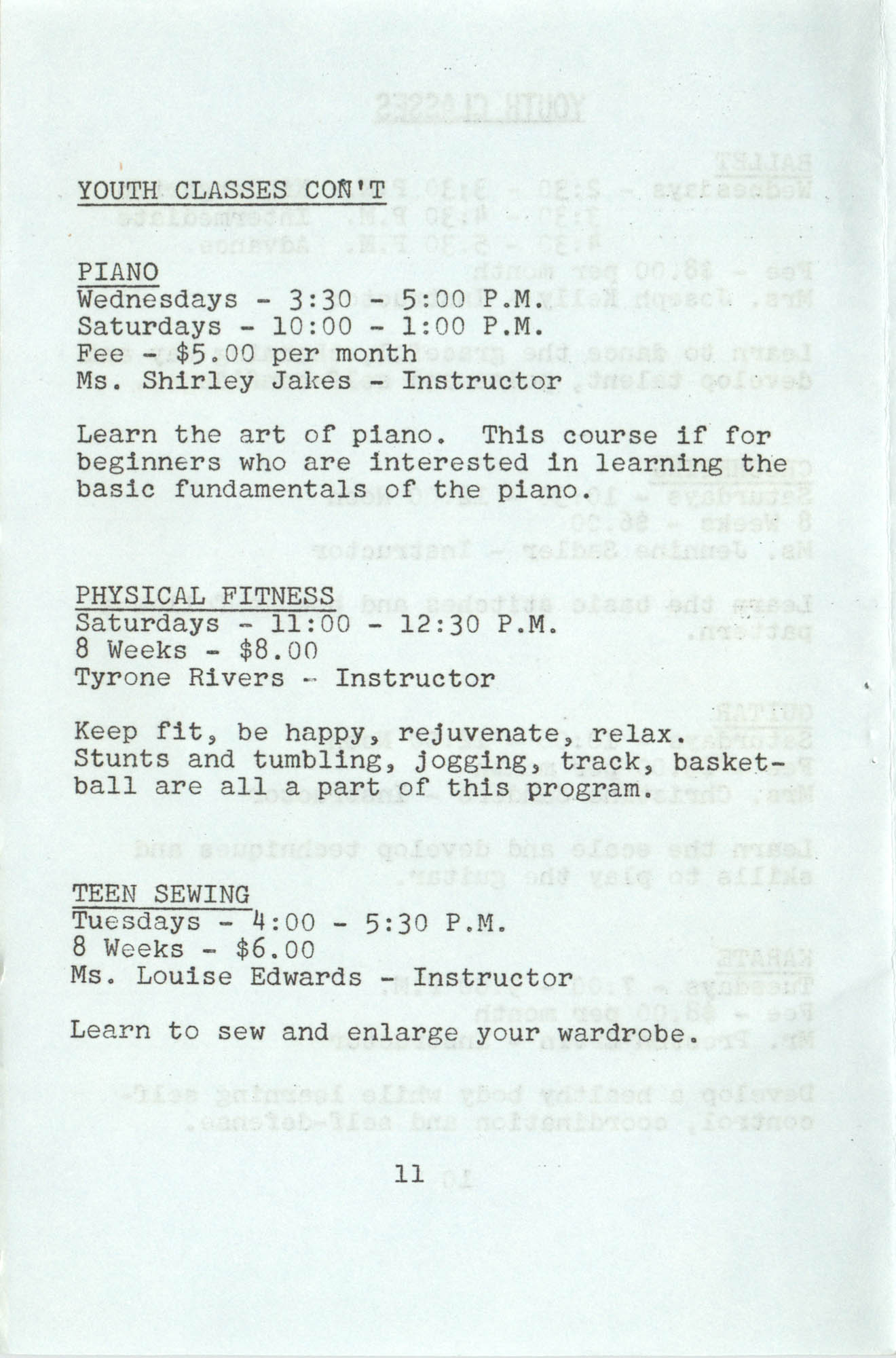 Spring 1975 Schedule, Y.W.C.A. of Greater Charleston, Page 11