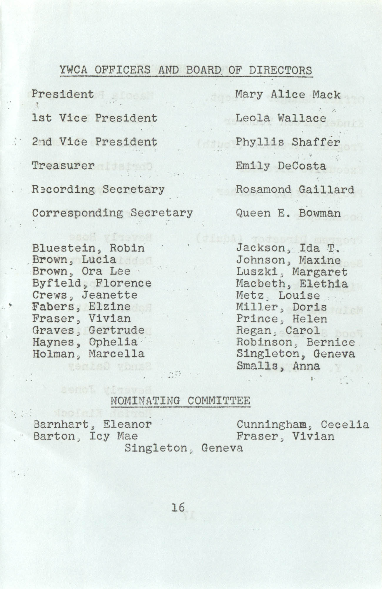 Spring 1975 Schedule, Y.W.C.A. of Greater Charleston, Page 16