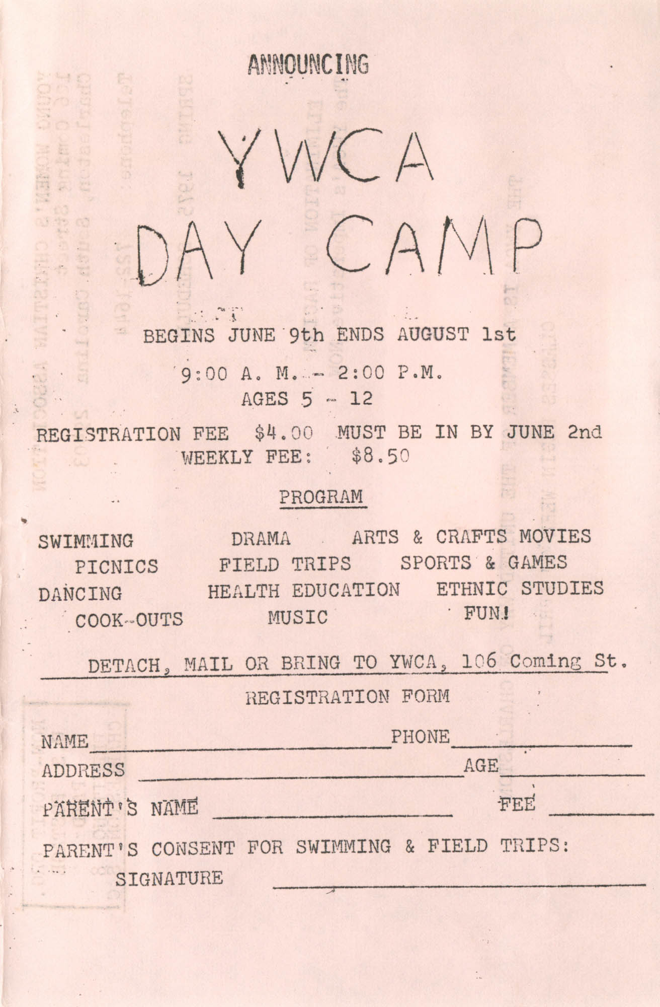 Spring 1975 Schedule, Y.W.C.A. of Greater Charleston, Page 18
