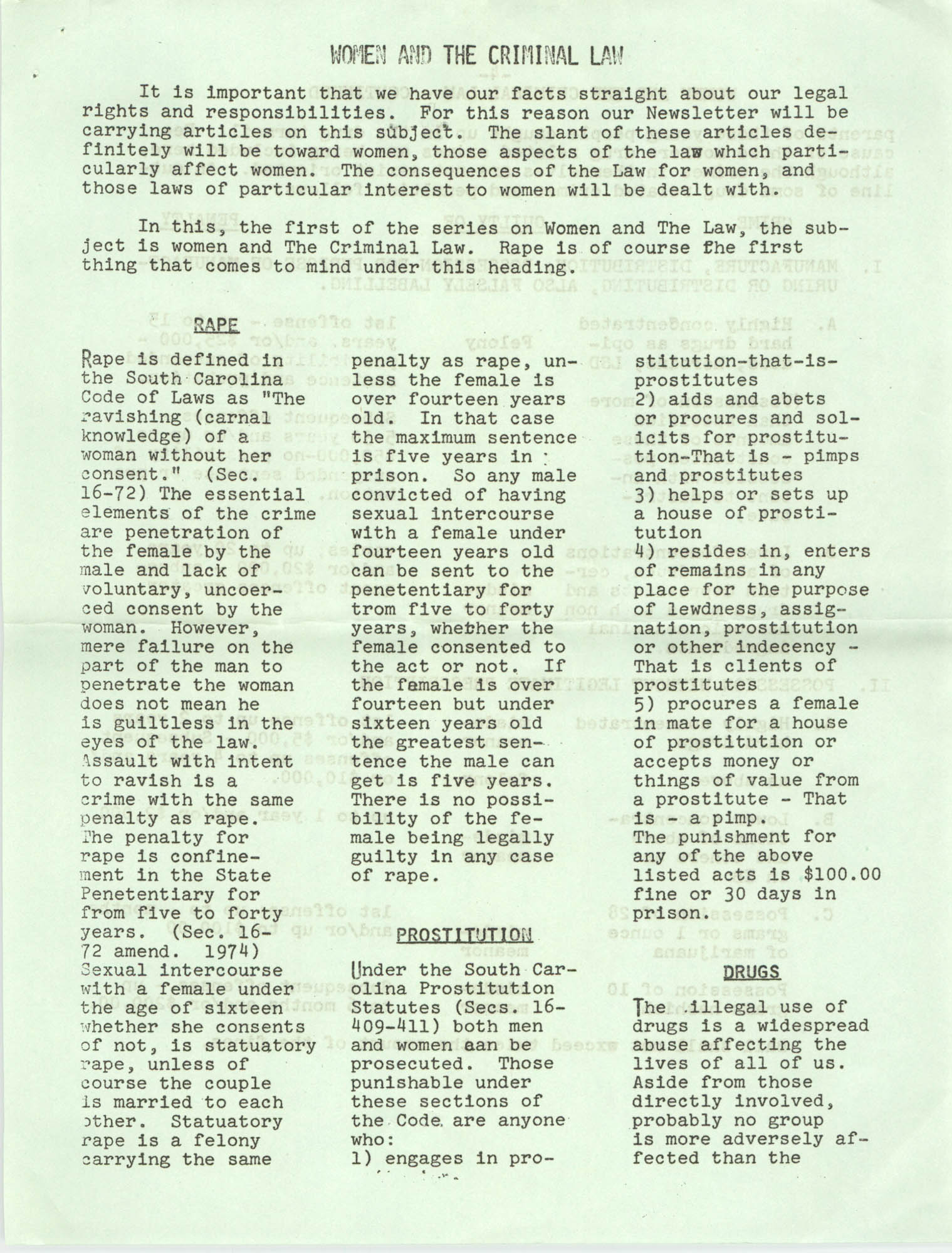 Issues and Actions, Y.W.C.A. of Greater Charleston, Summer 1975, Page 3