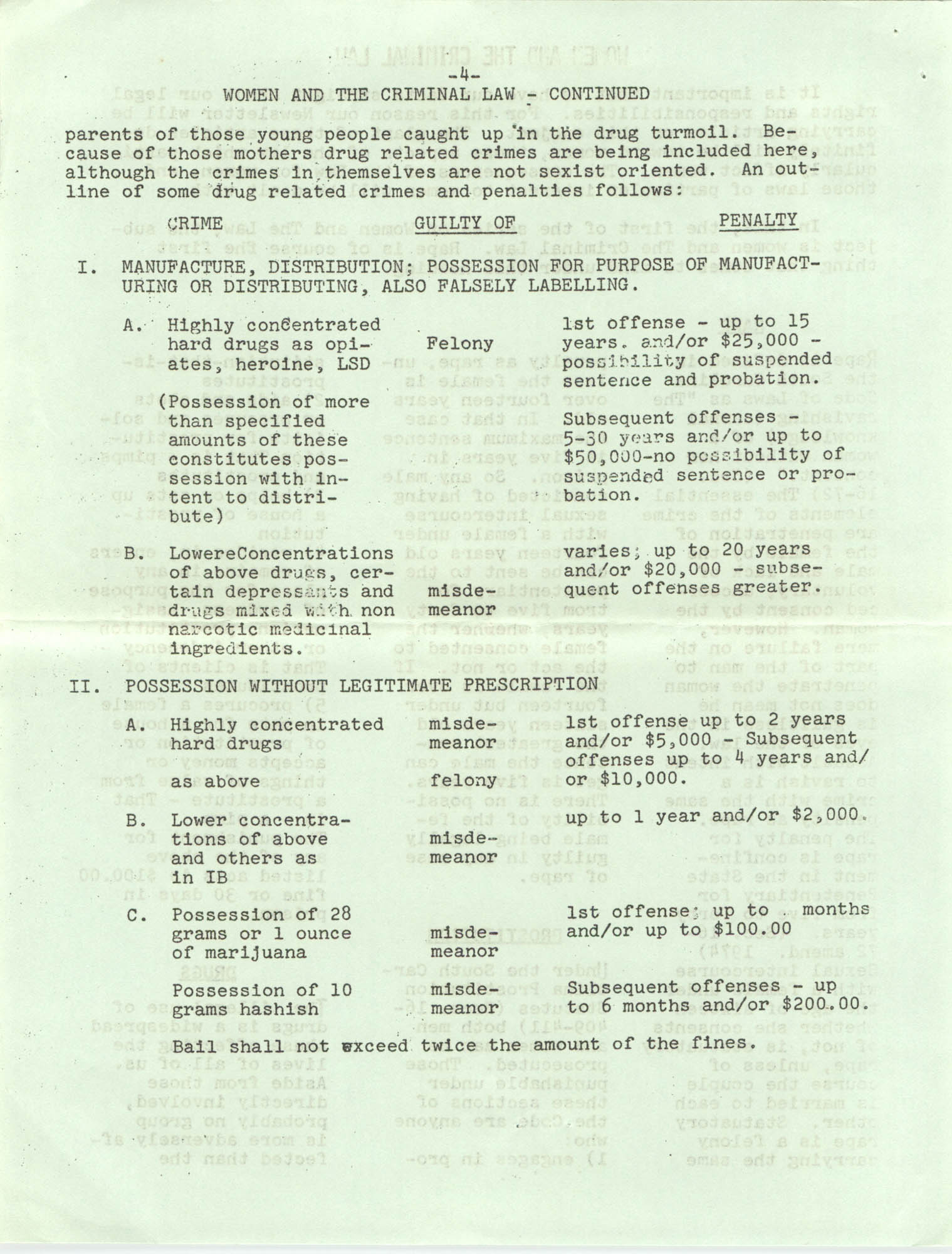 Issues and Actions, Y.W.C.A. of Greater Charleston, Summer 1975, Page 4