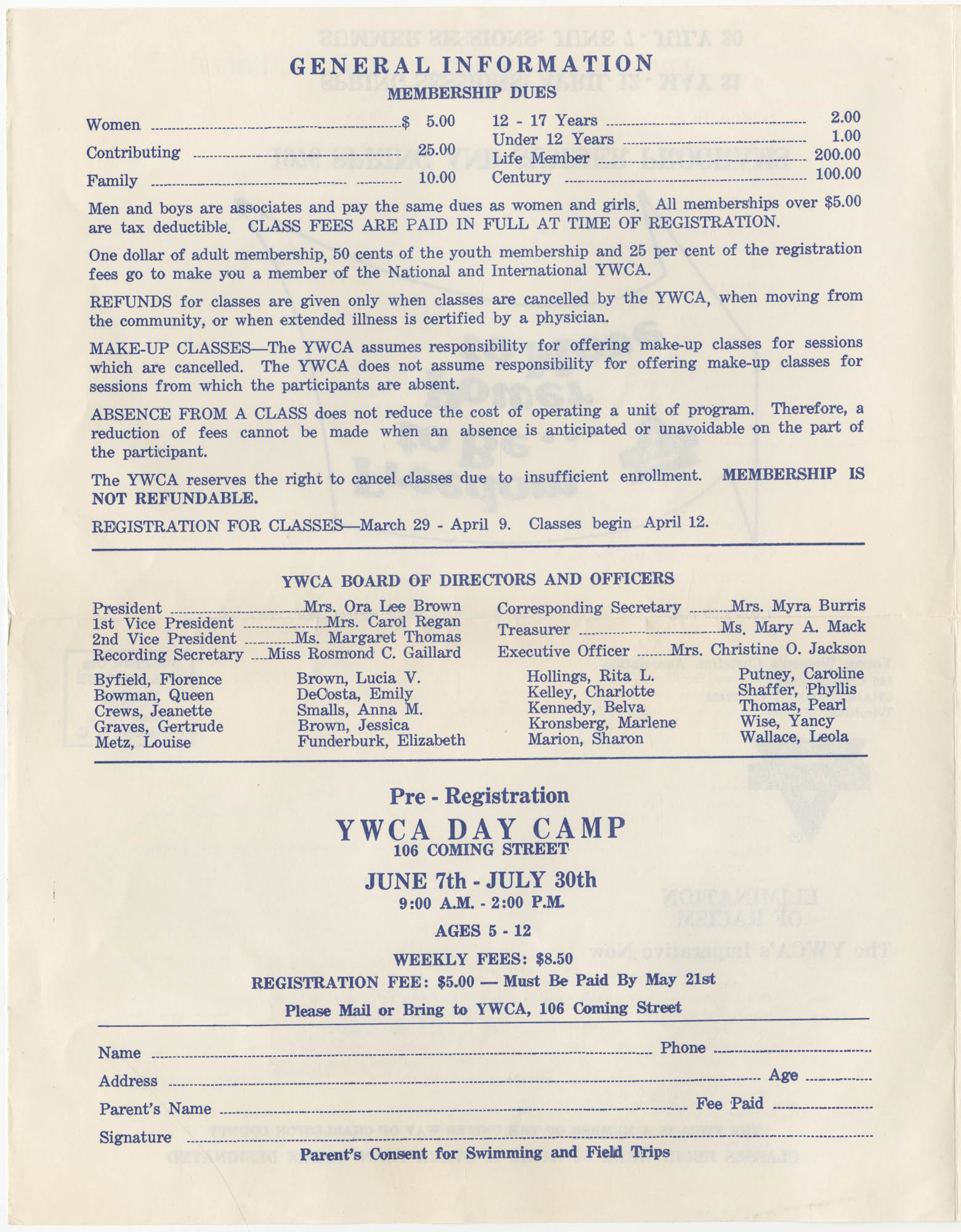 Spring and Summer 1976 Programs, Y.W.C.A. of Greater Charleston, Page 2