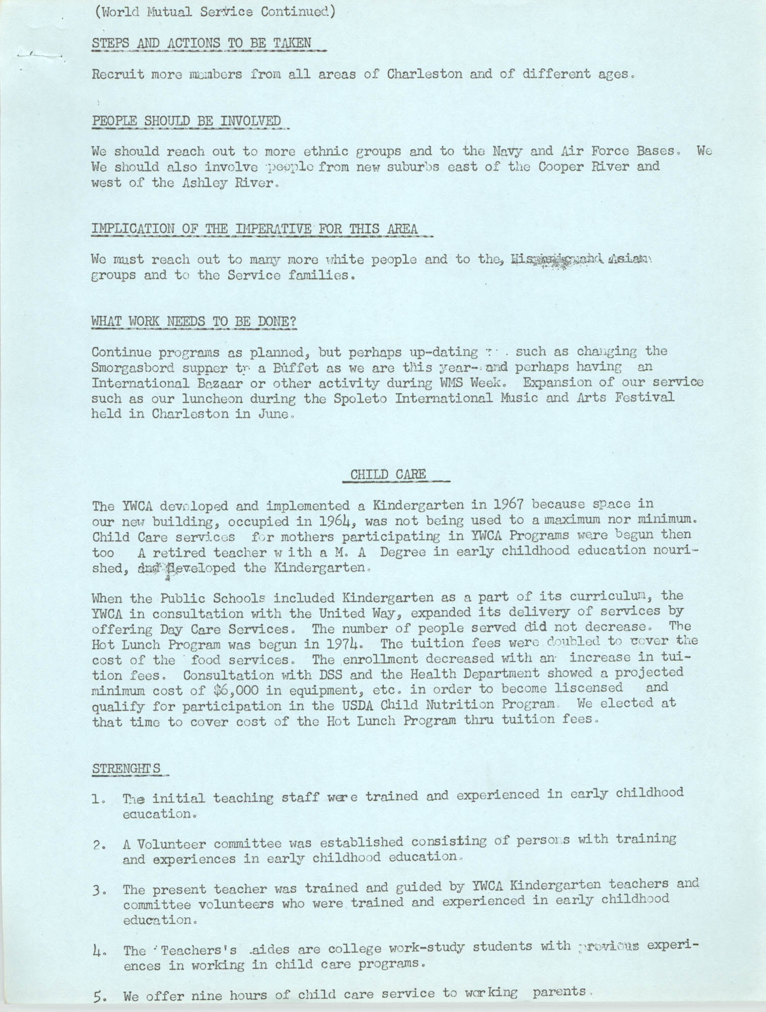 Program for the Y.W.C.A. of Greater Charleston, 1974, Page 2