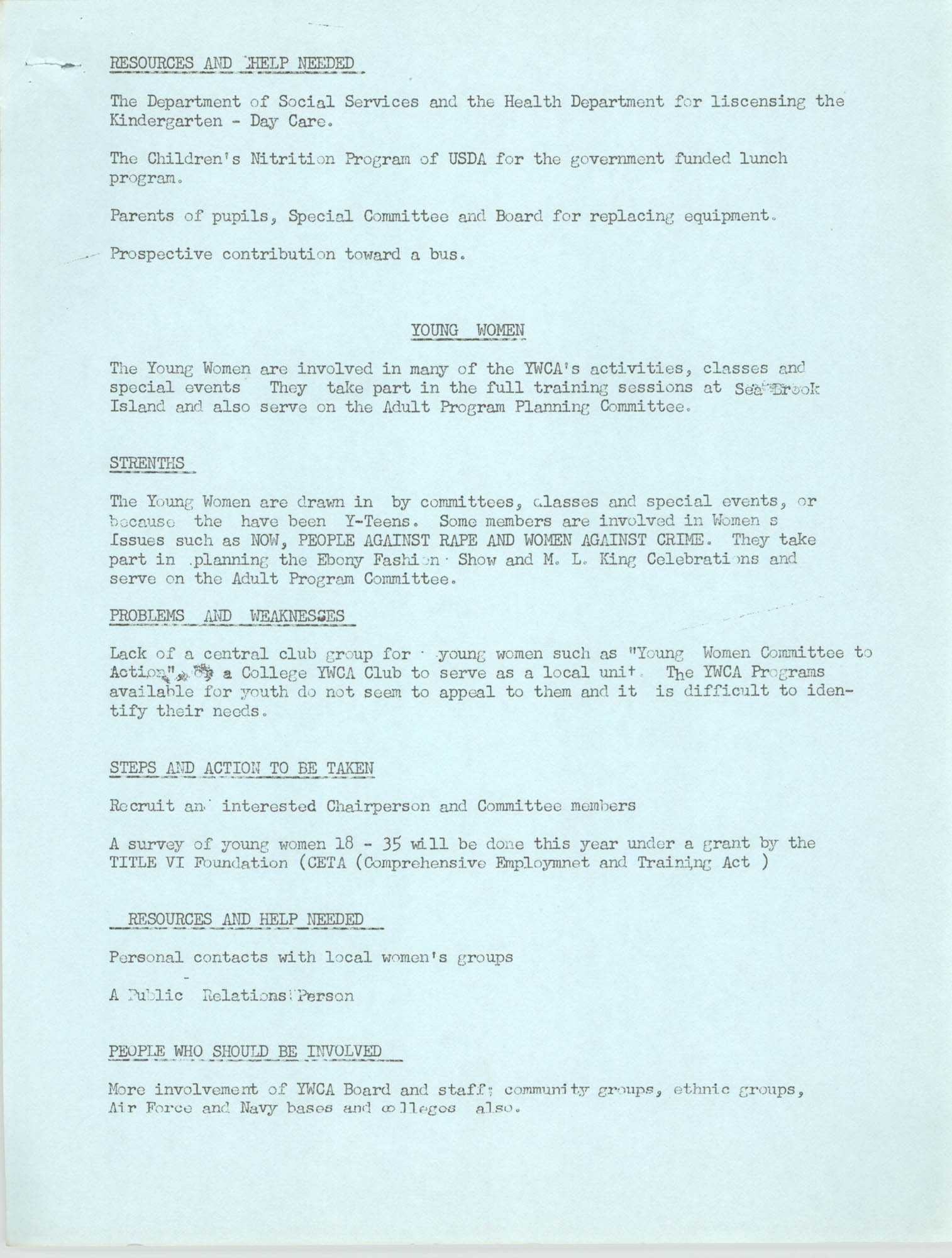 Program for the Y.W.C.A. of Greater Charleston, 1974, Page 4