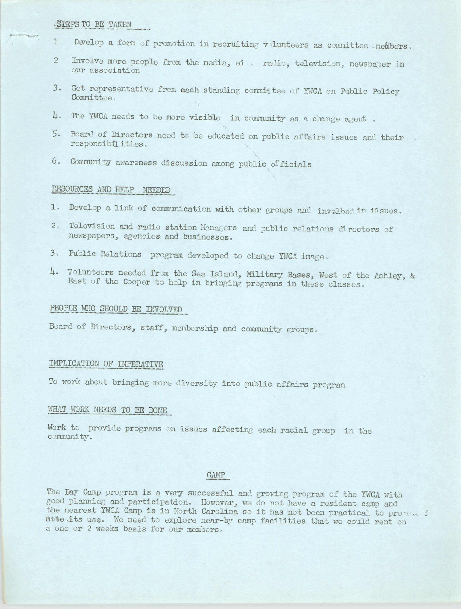 Program for the Y.W.C.A. of Greater Charleston, 1974, Page 6