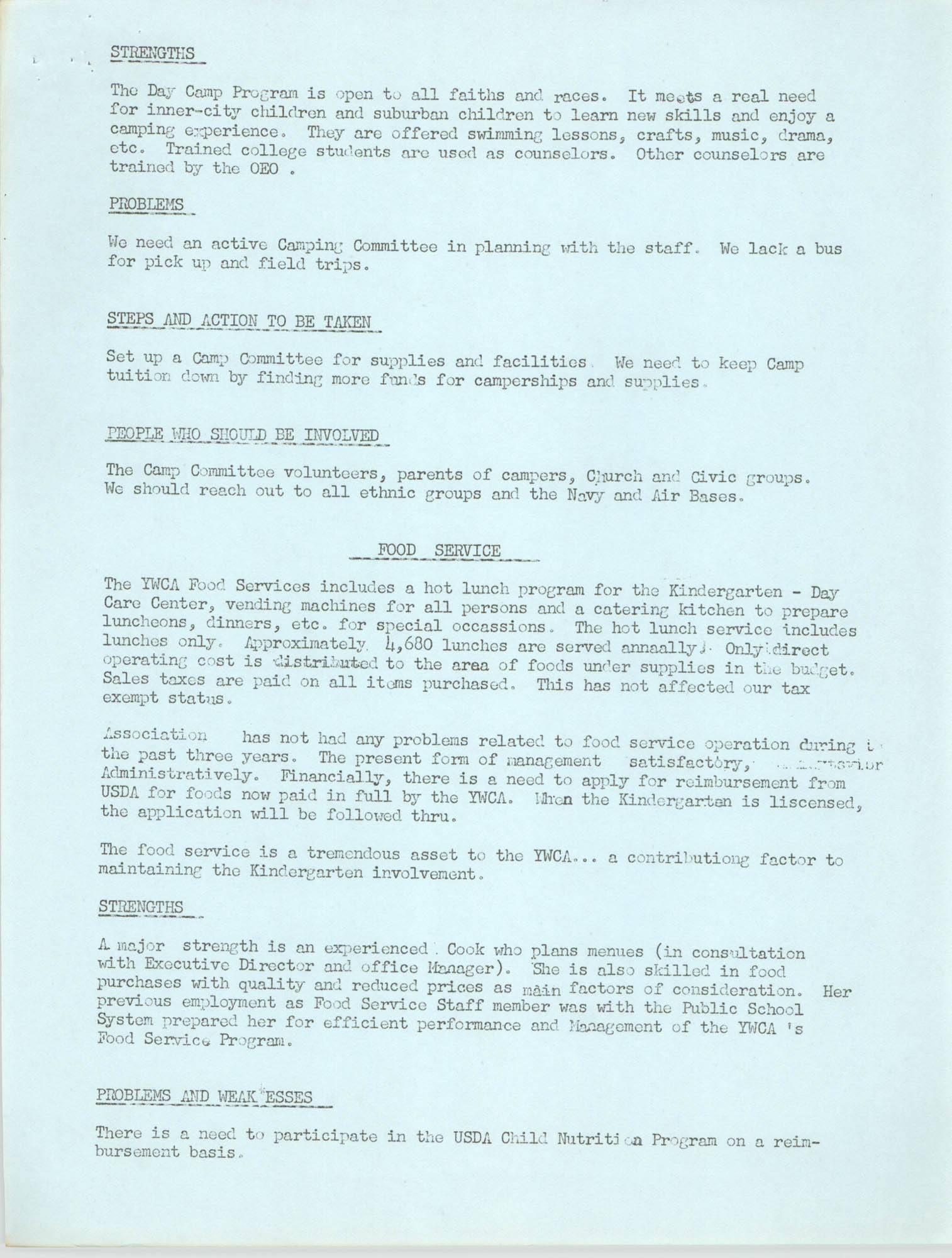 Program for the Y.W.C.A. of Greater Charleston, 1974, Page 7