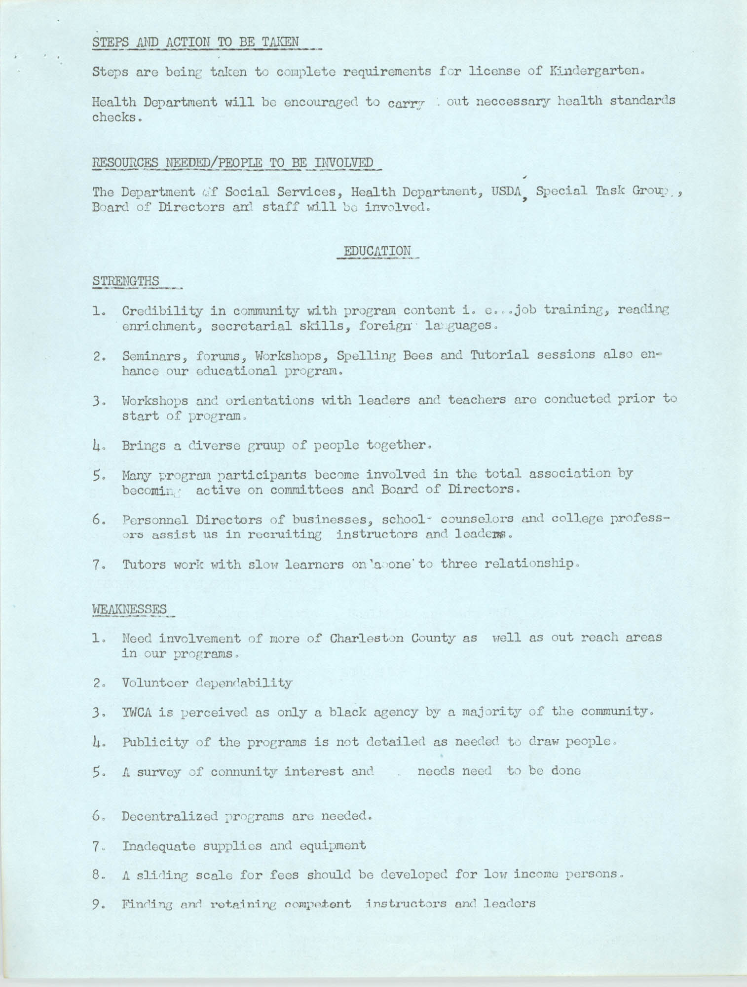 Program for the Y.W.C.A. of Greater Charleston, 1974, Page 8