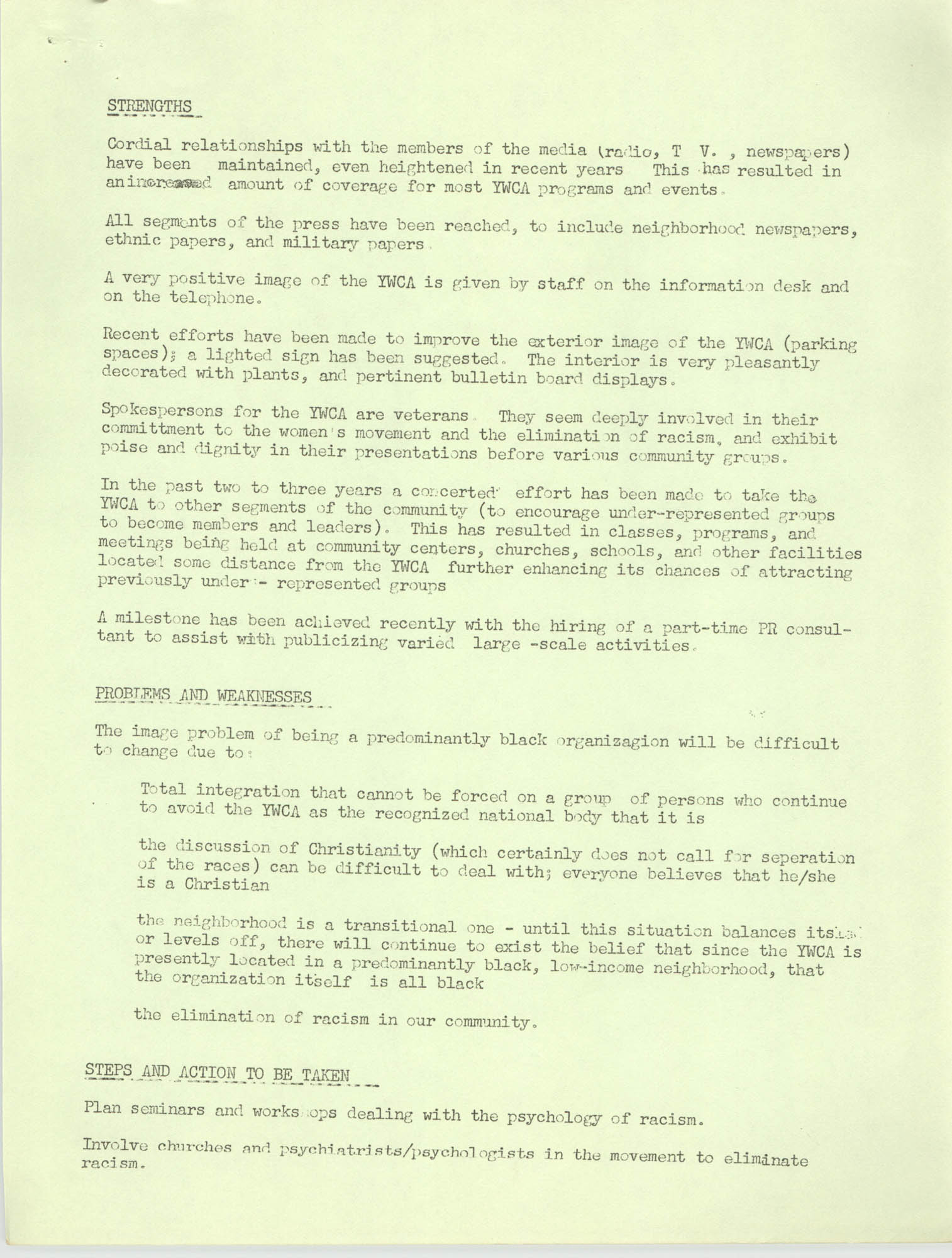 Y.W.C.A. of Greater Charleston Community Relations, Page 2