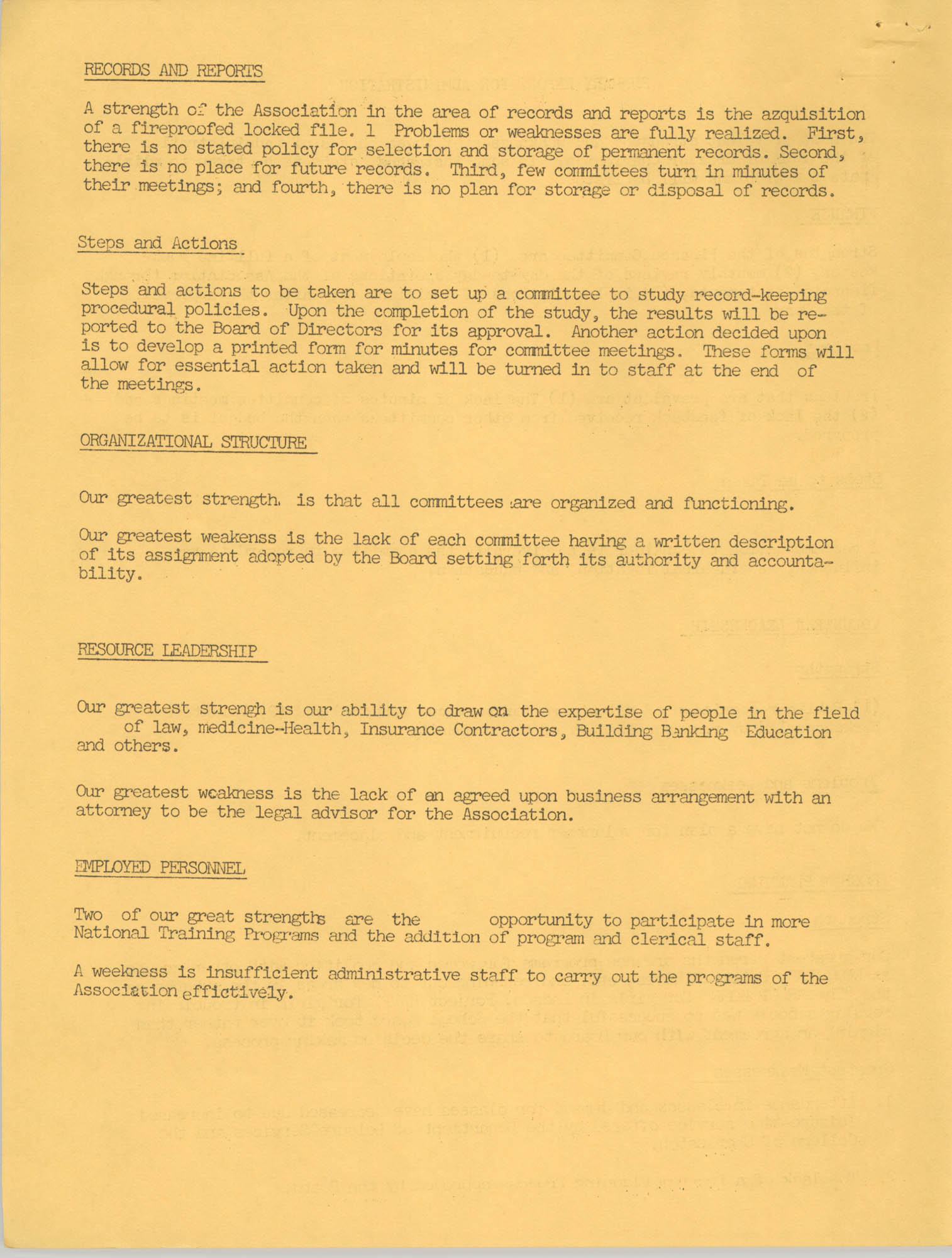 Y.W.C.A. of Greater Charleston Summary Report for Administration, Page 2