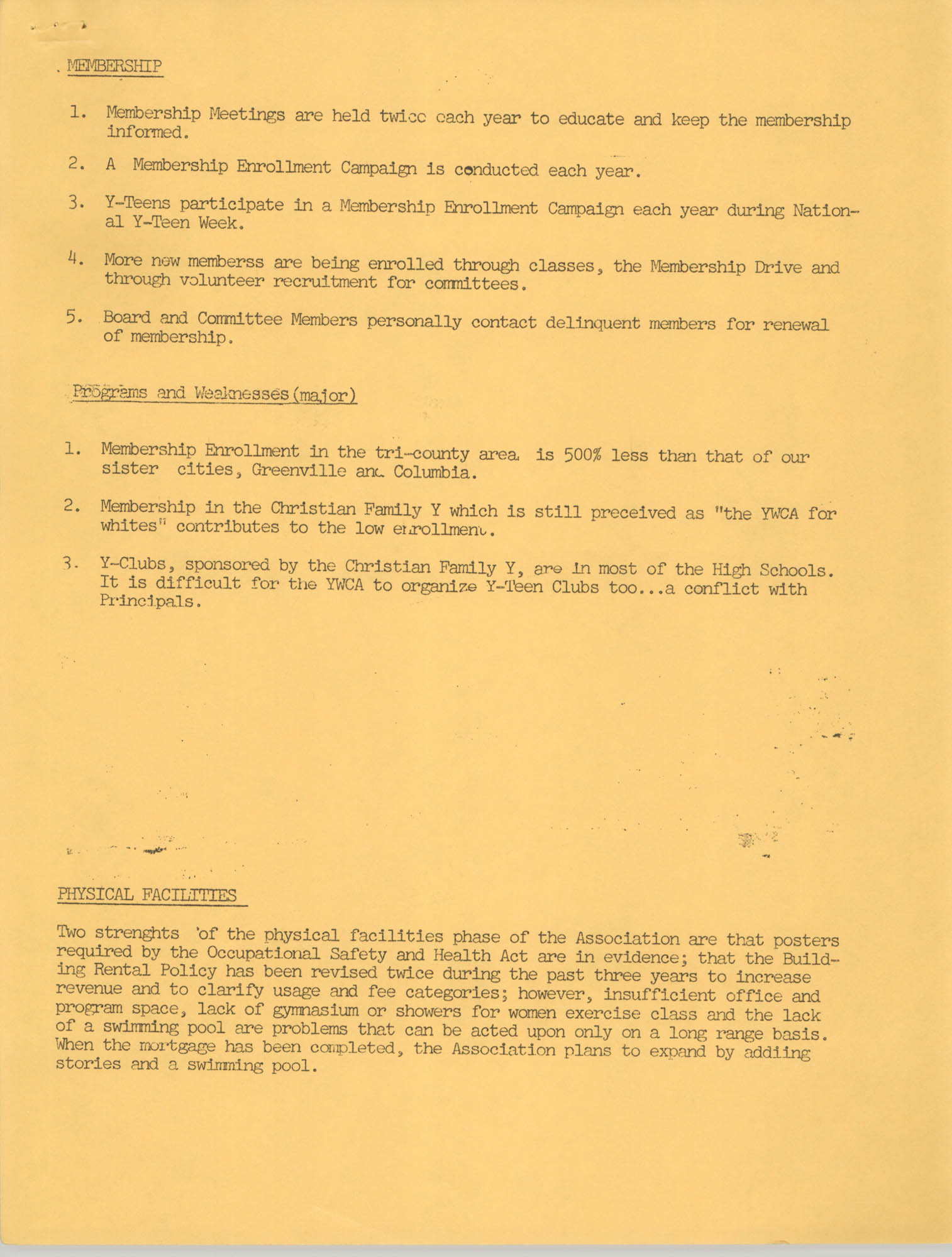 Y.W.C.A. of Greater Charleston Summary Report for Administration, Page 3