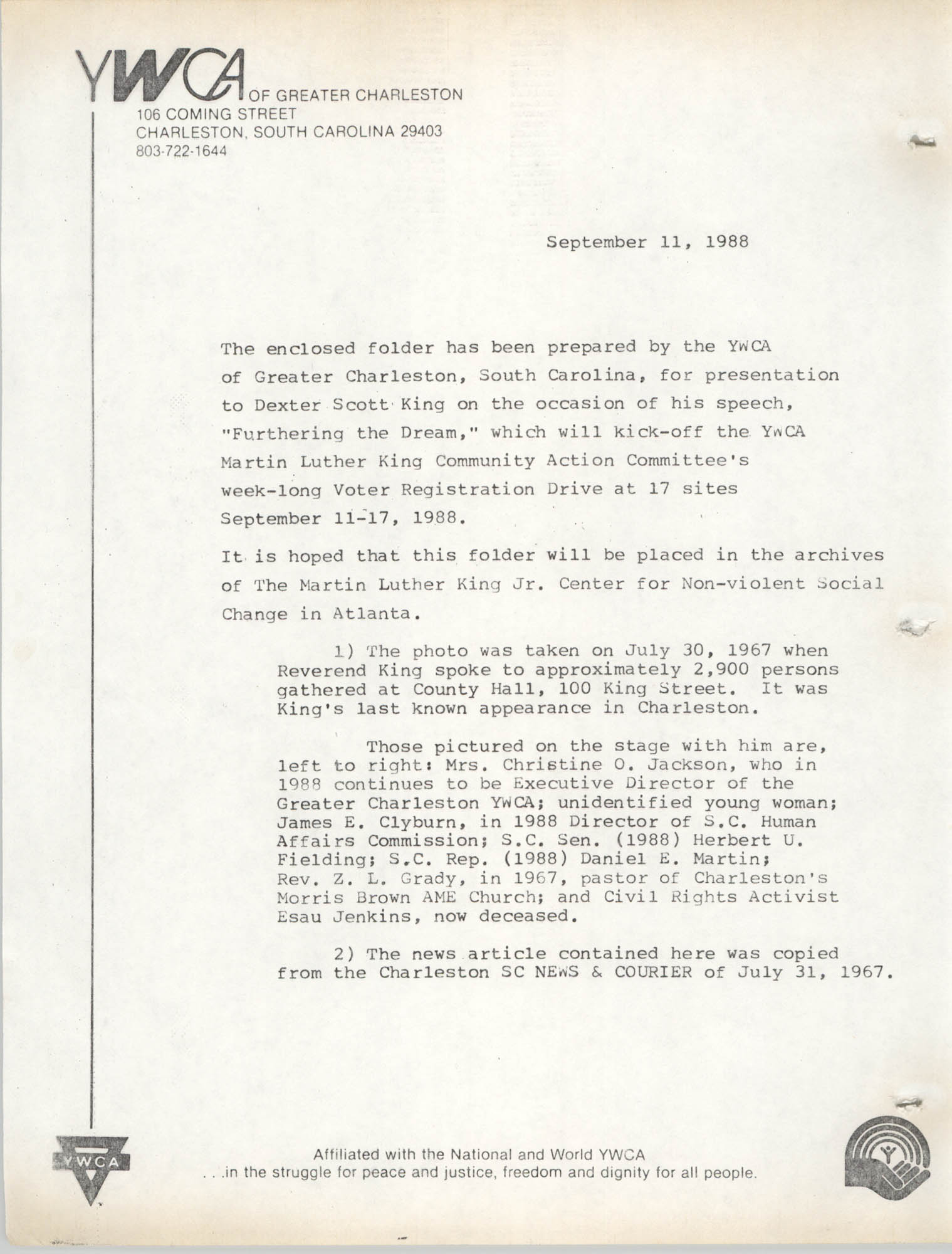 Martin Luther King, Jr. Scrapbook, 1988, Page 2