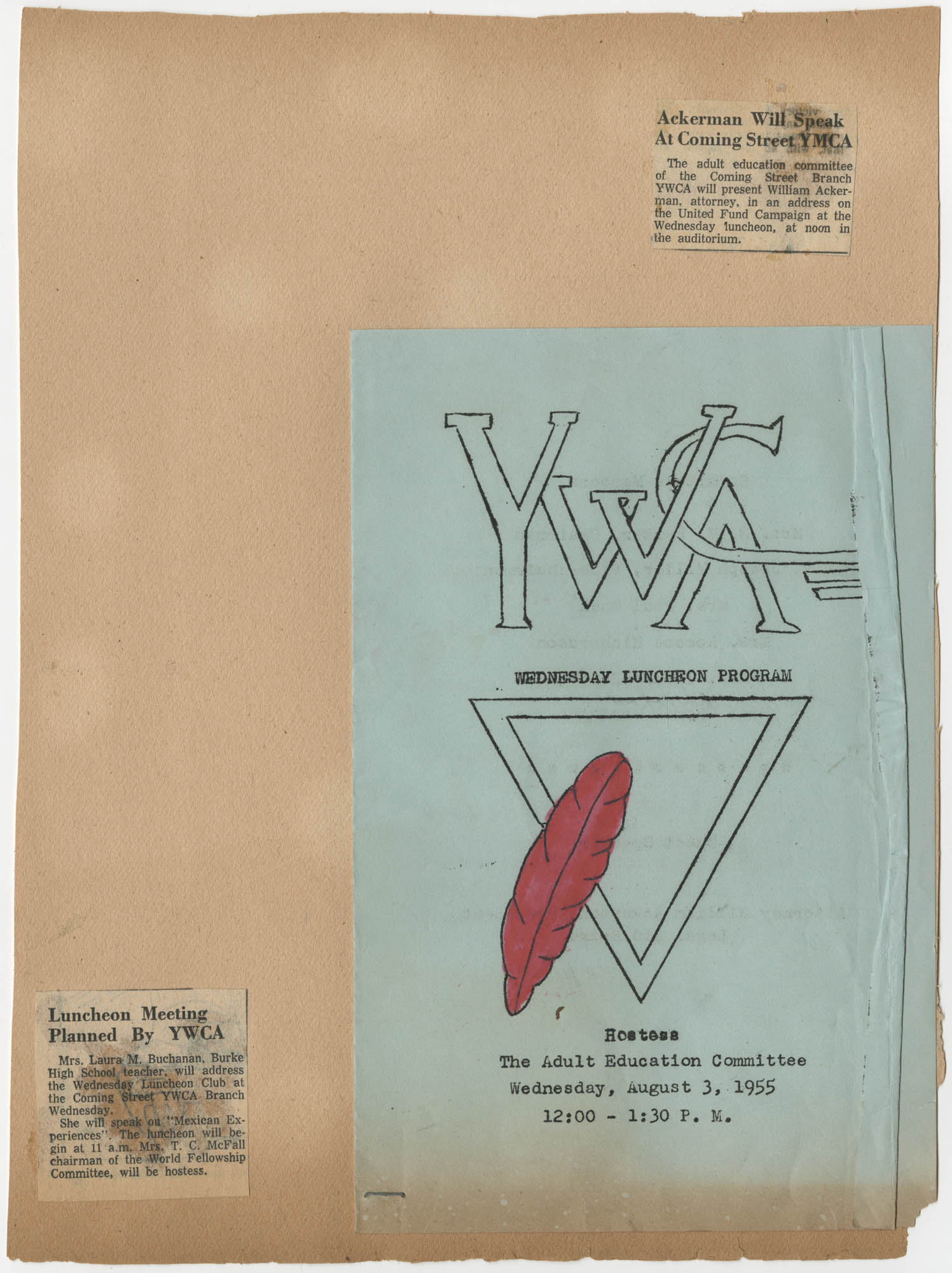 Coming Street Y.W.C.A. Scrapbook, 1953-1957, Page 35 Exterior