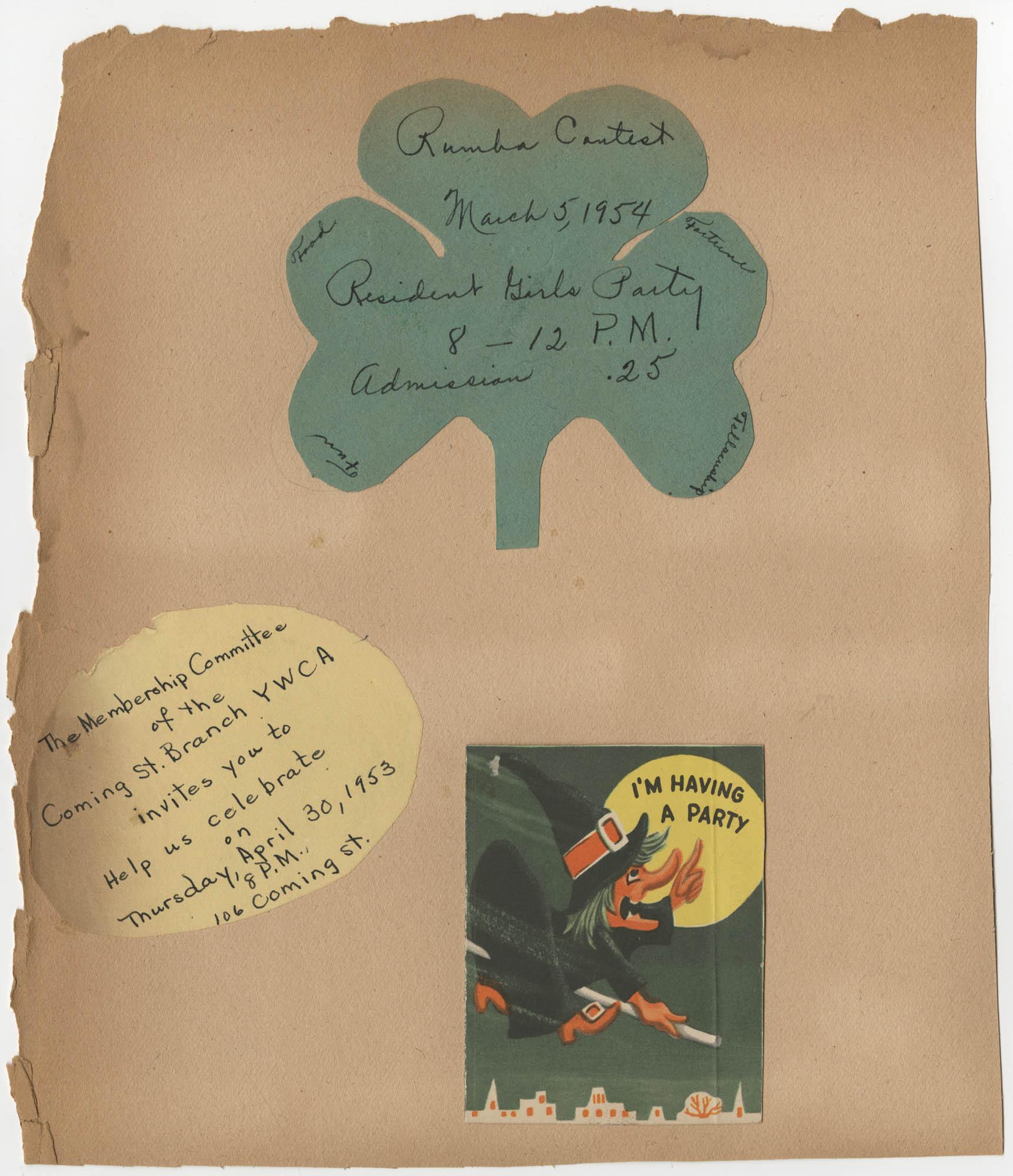 Coming Street Y.W.C.A. Scrapbook, 1953-1957, Page 39 Exterior
