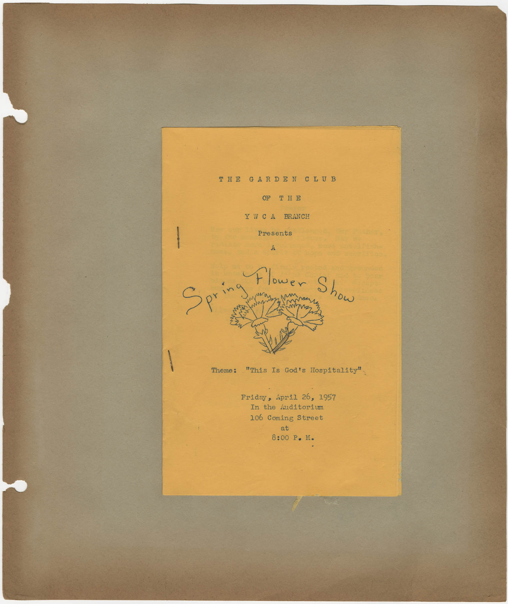 Coming Street Y.W.C.A. Scrapbook, 1953-1957, Page 121 Exterior
