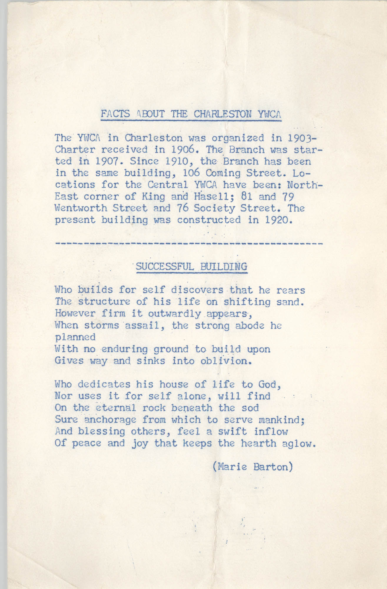 Coming Street Y.W.C.A. Scrapbook, 1953-1957, Page 134