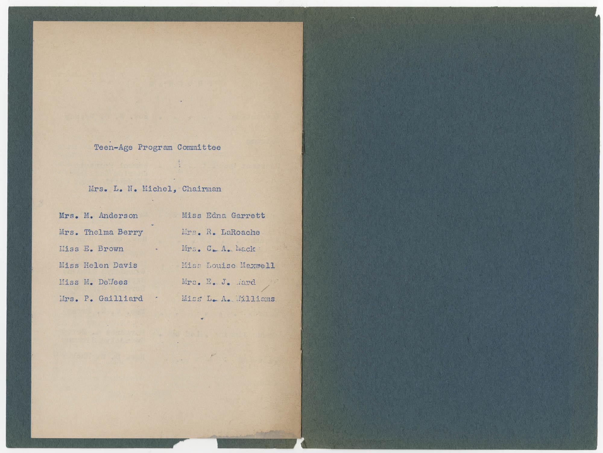 Coming Street Y.W.C.A. Scrapbook, 1953-1957, Page 135, Interior Page 4